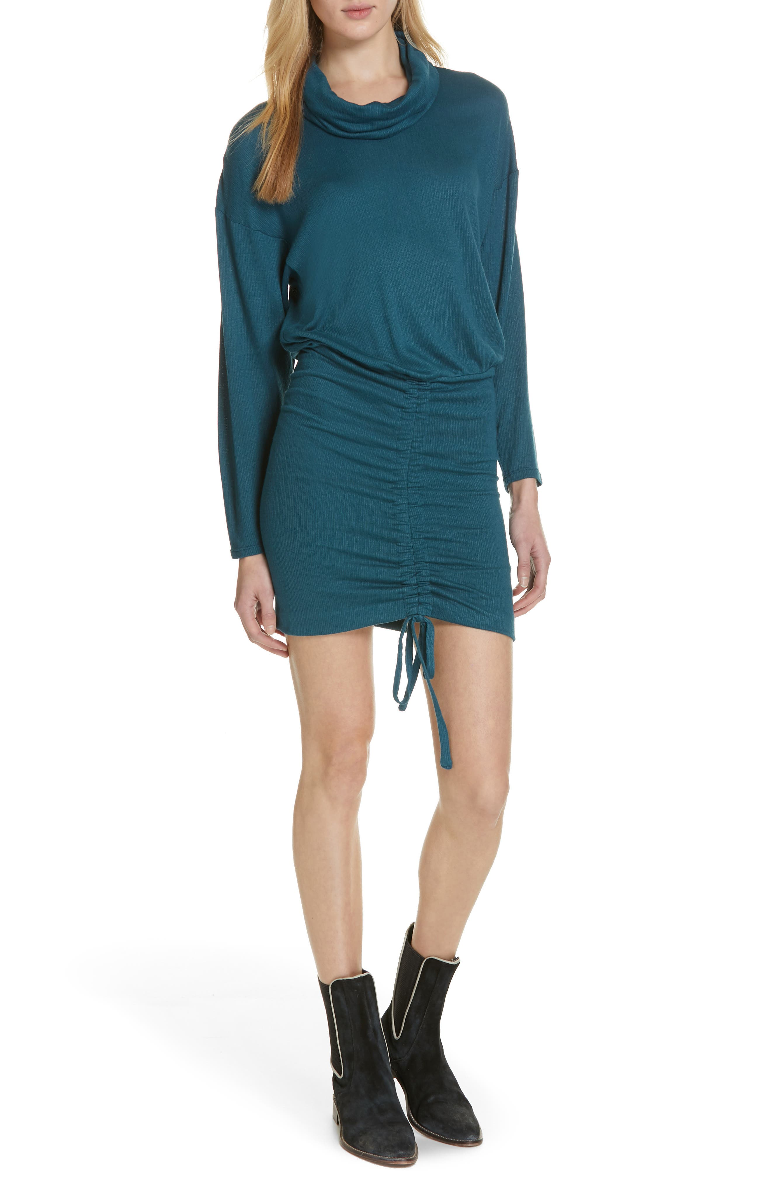 Free People Sundown Minidress, Blue/green