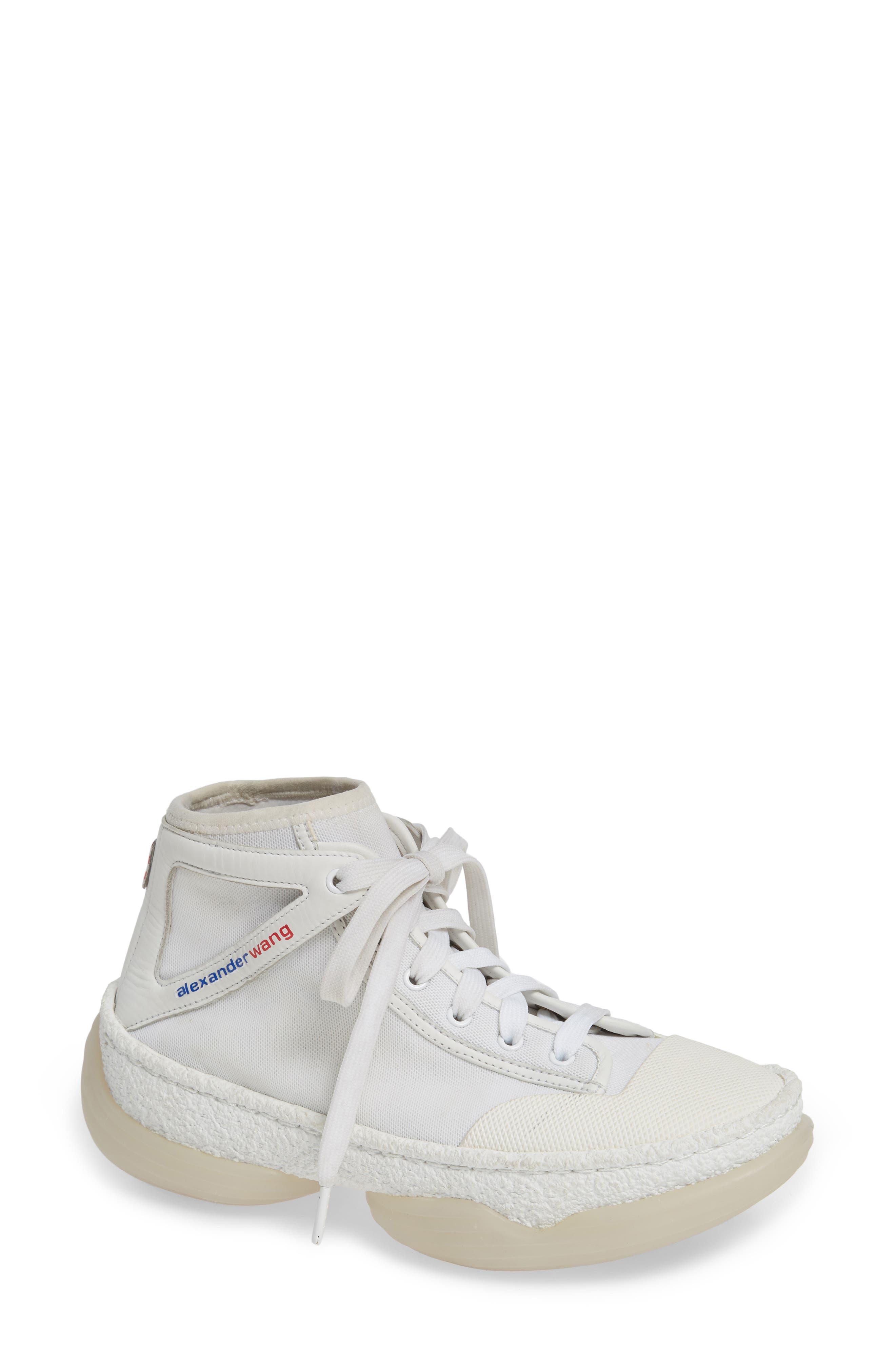 Alexander Wang Logo Platform Sneaker, White