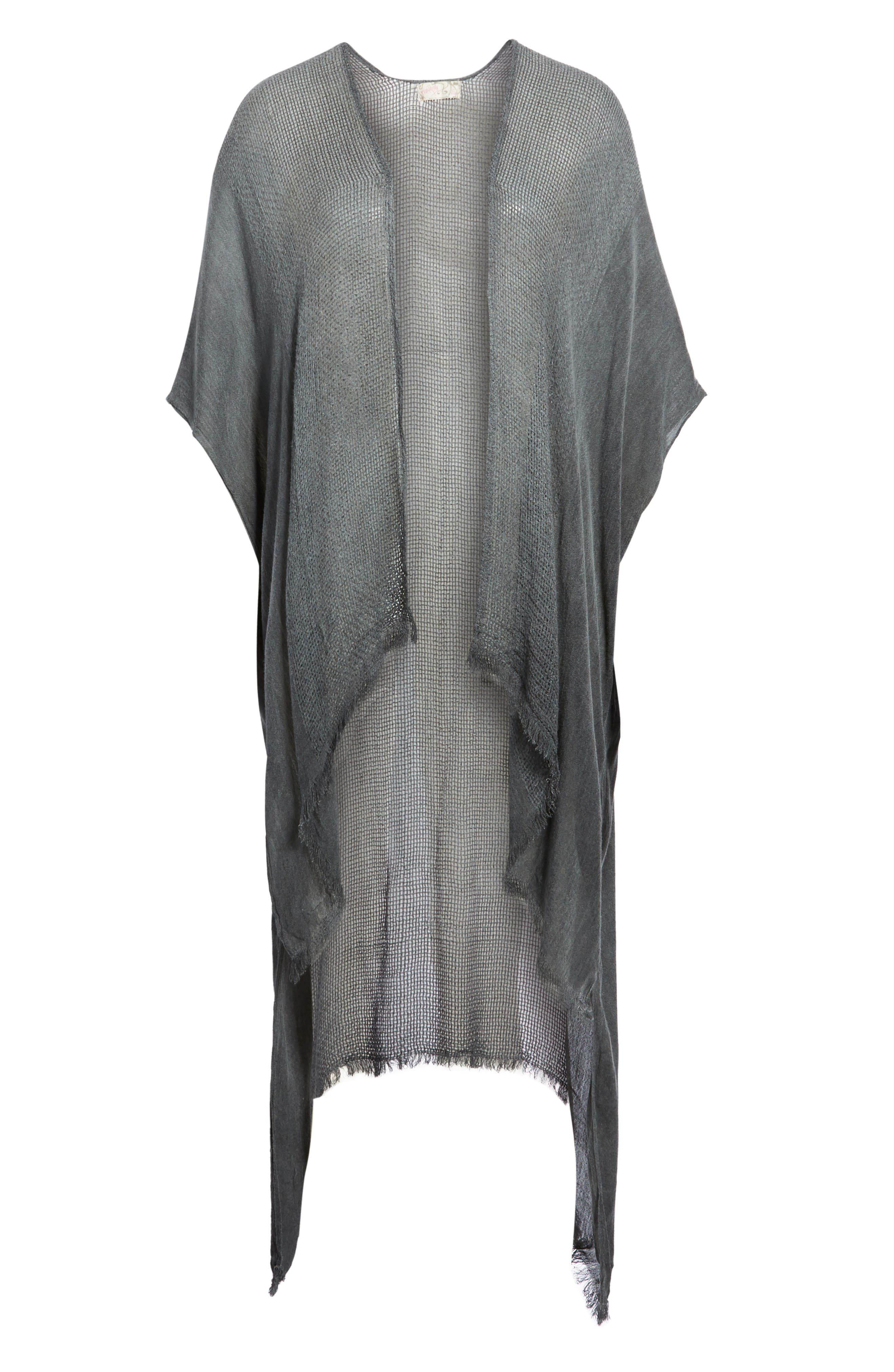 Day Dream Kimono,                             Alternate thumbnail 6, color,                             BLACK