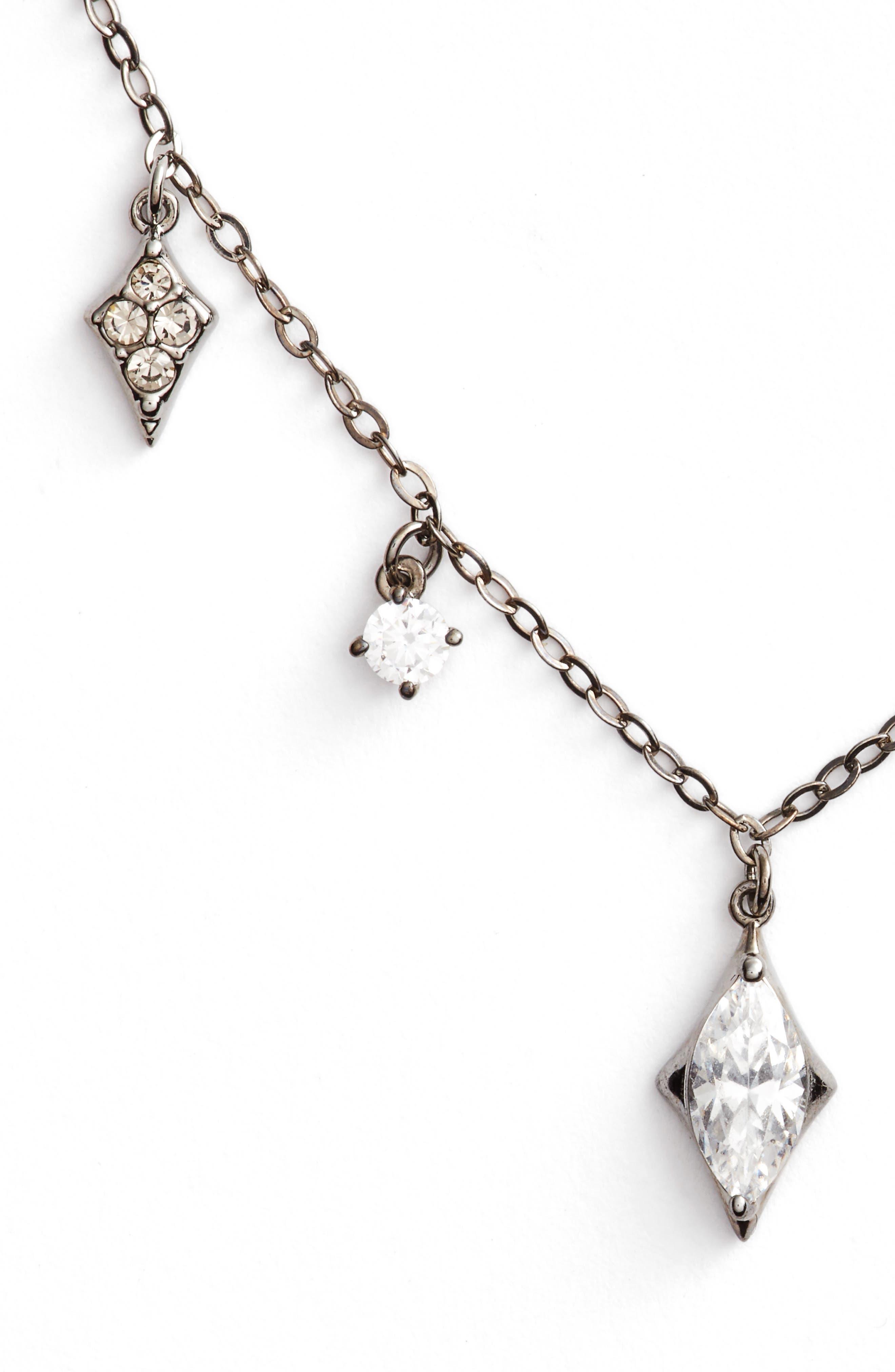 Noel Cubic Zirconia Dangling Choker Necklace,                             Main thumbnail 1, color,                             001