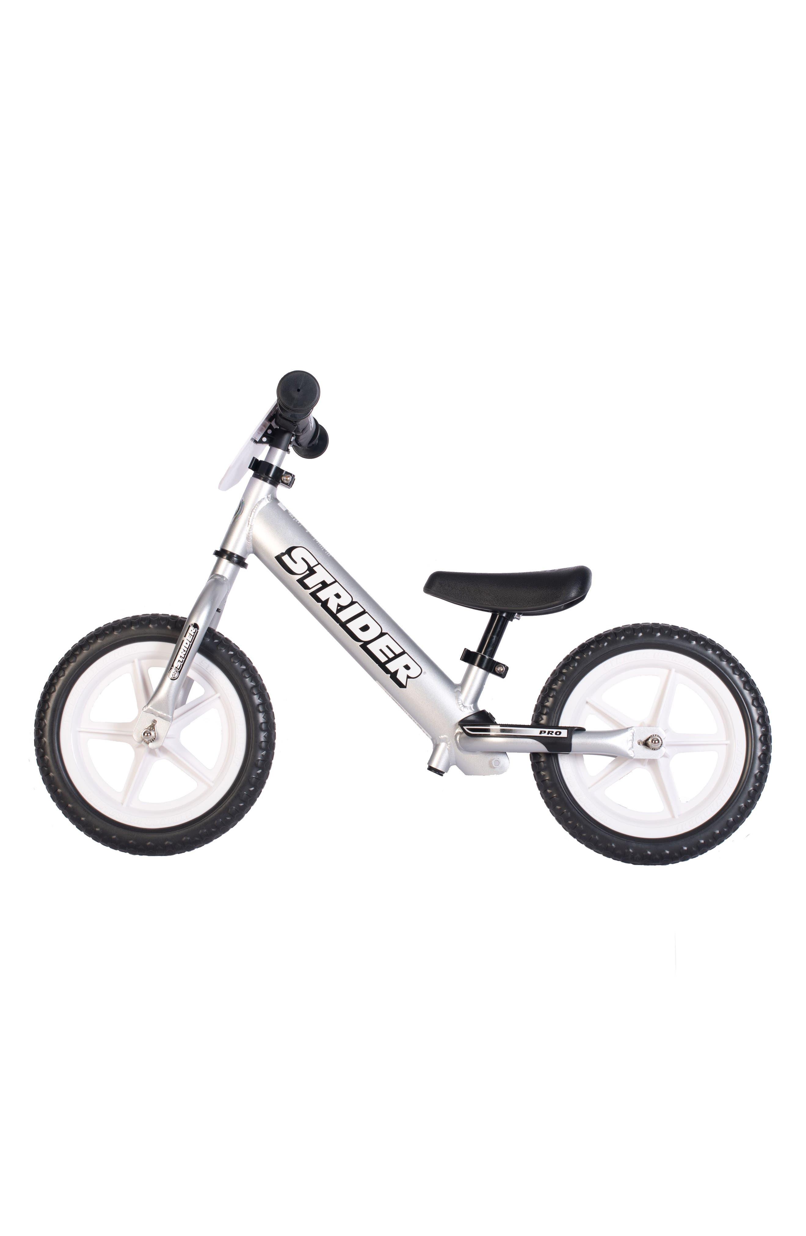 12 Pro Balance No Pedal Bike,                             Alternate thumbnail 4, color,                             SILVER