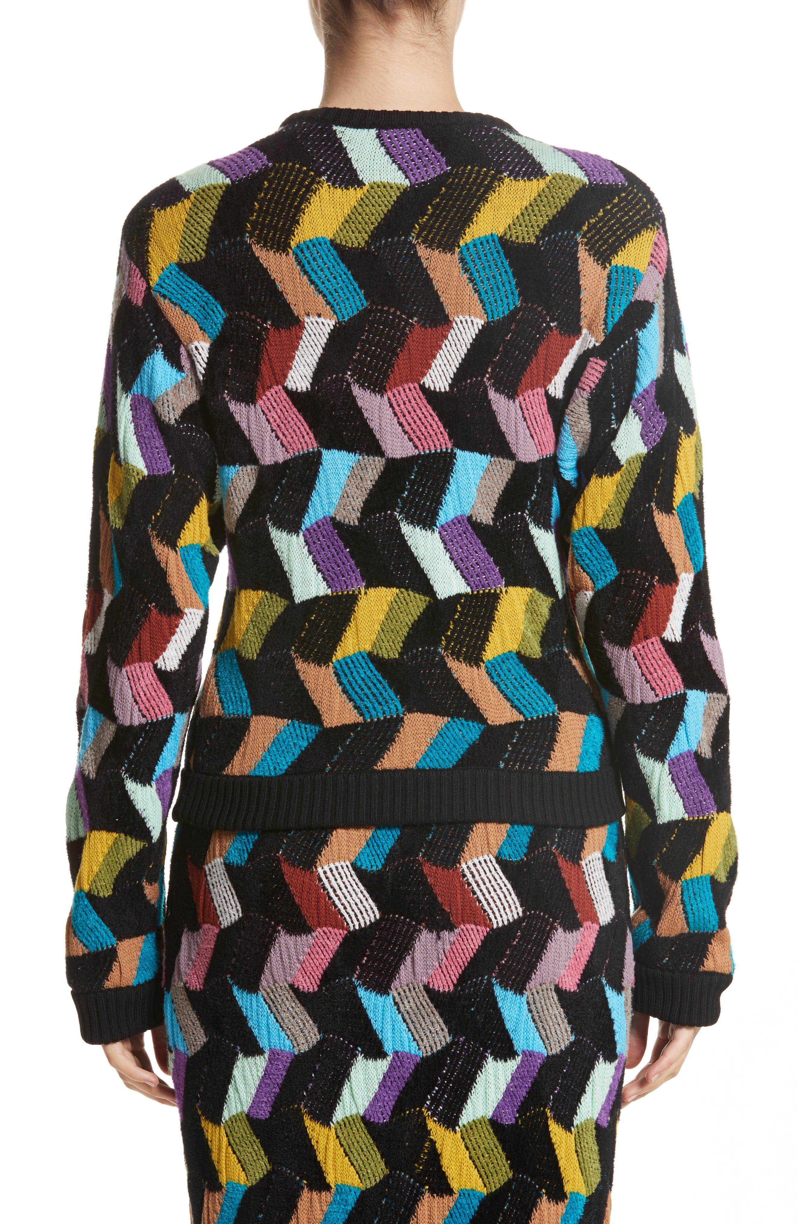 Jacquard Sweater,                             Alternate thumbnail 2, color,                             001