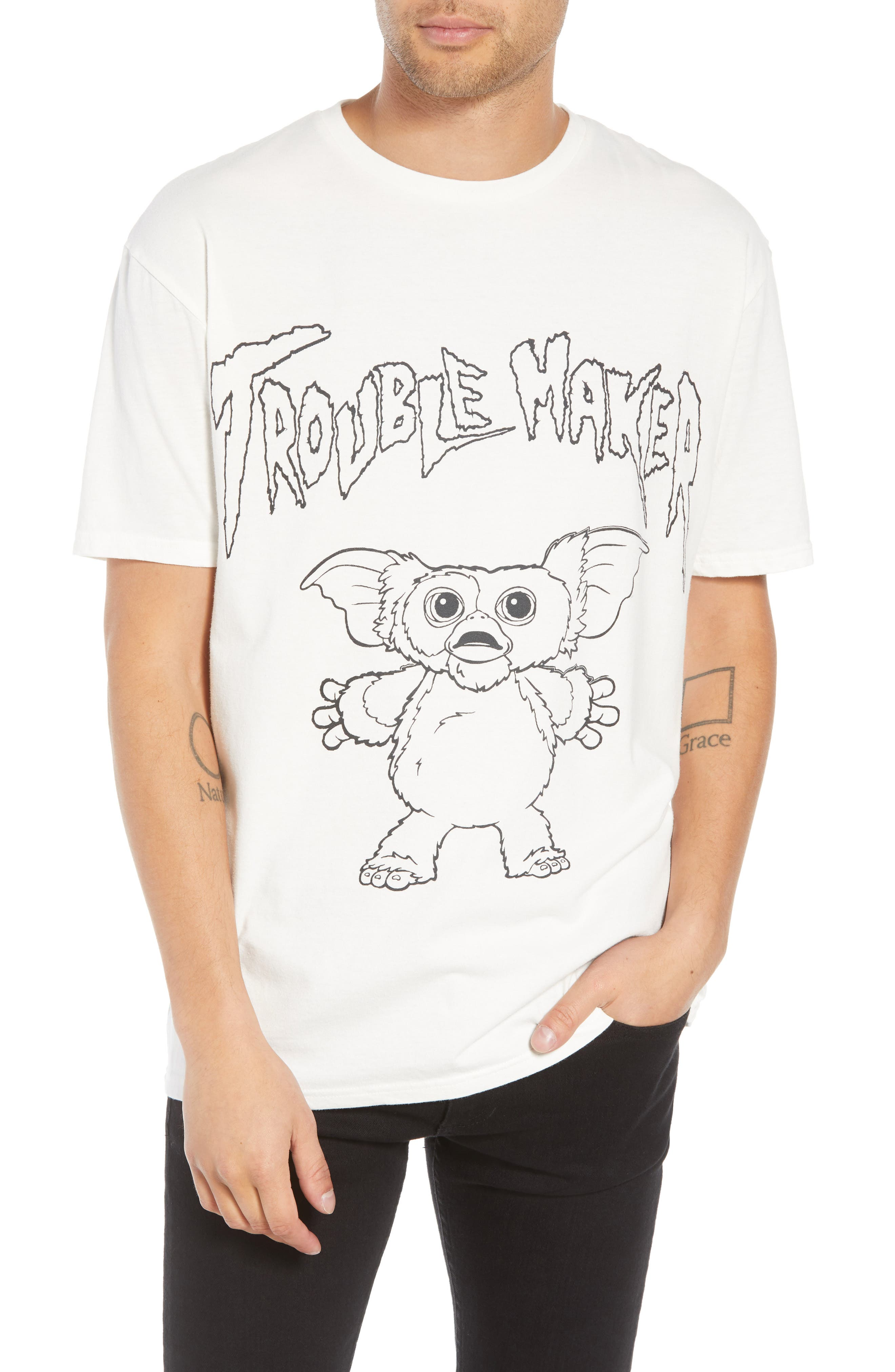 Gizmo Graphic Tee,                             Main thumbnail 1, color,                             WHITE