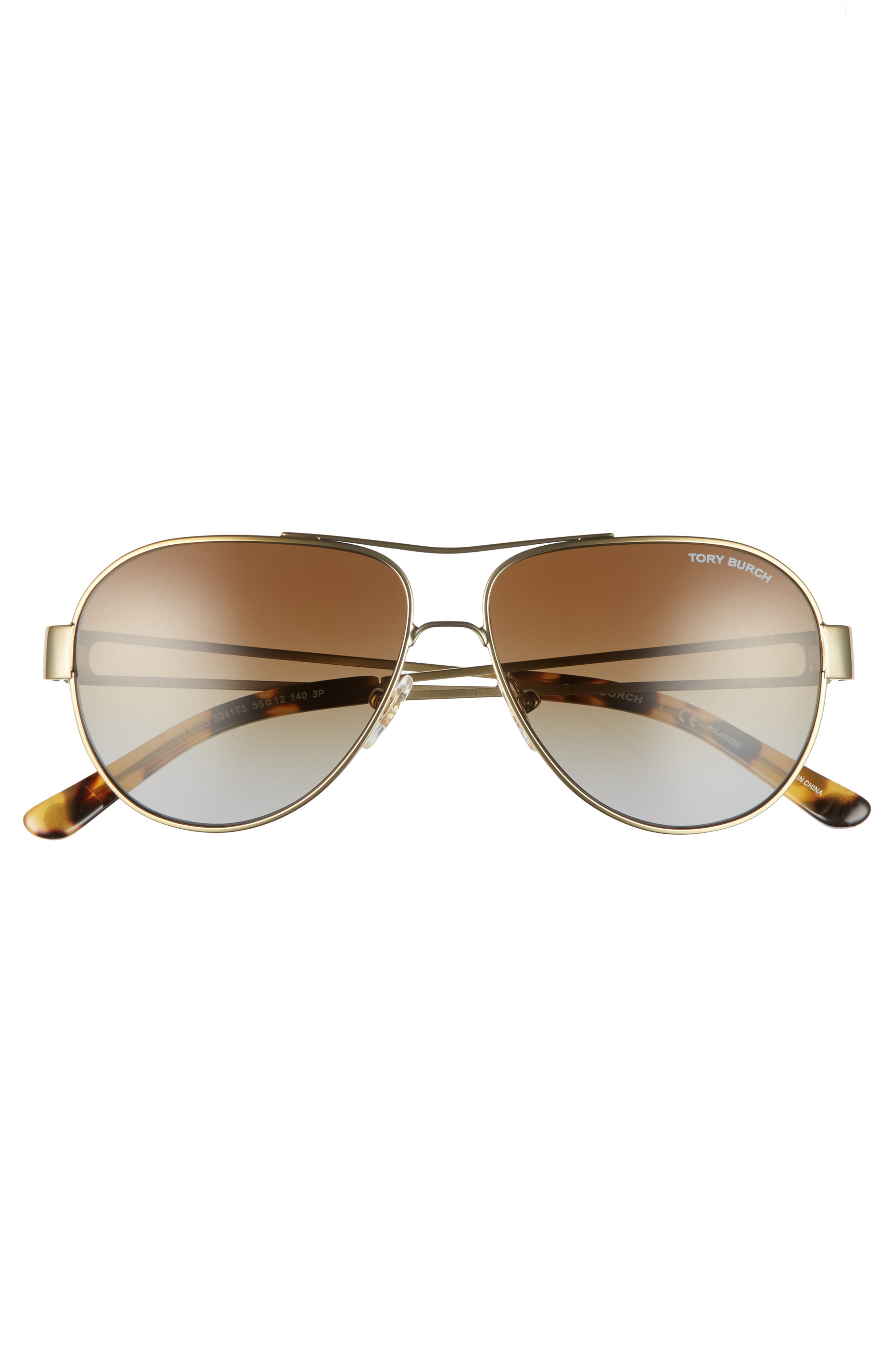 55mm Polarized Aviator Sunglasses,                             Alternate thumbnail 14, color,