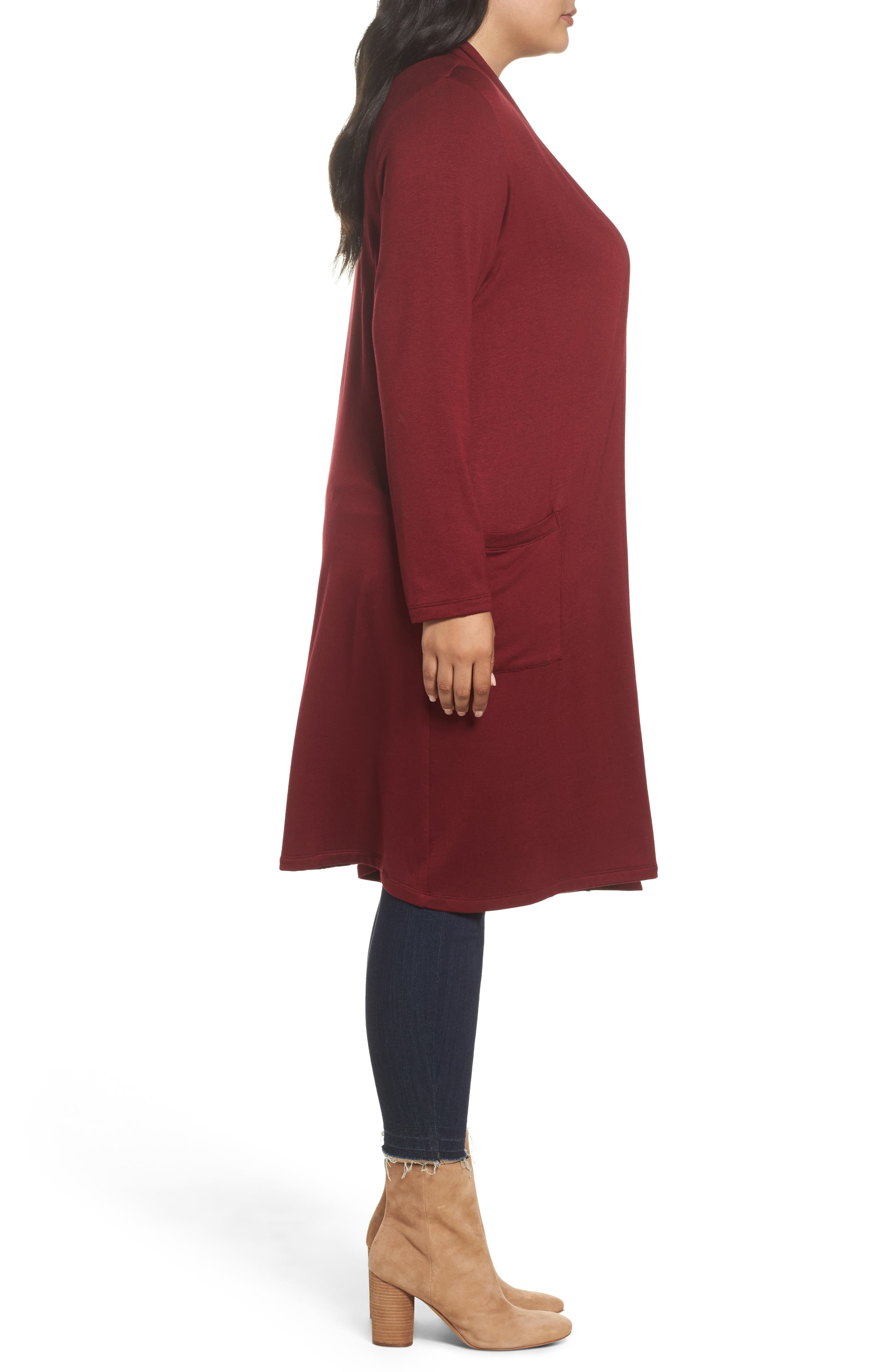 Two-Pocket Stretch Cardigan,                             Alternate thumbnail 9, color,