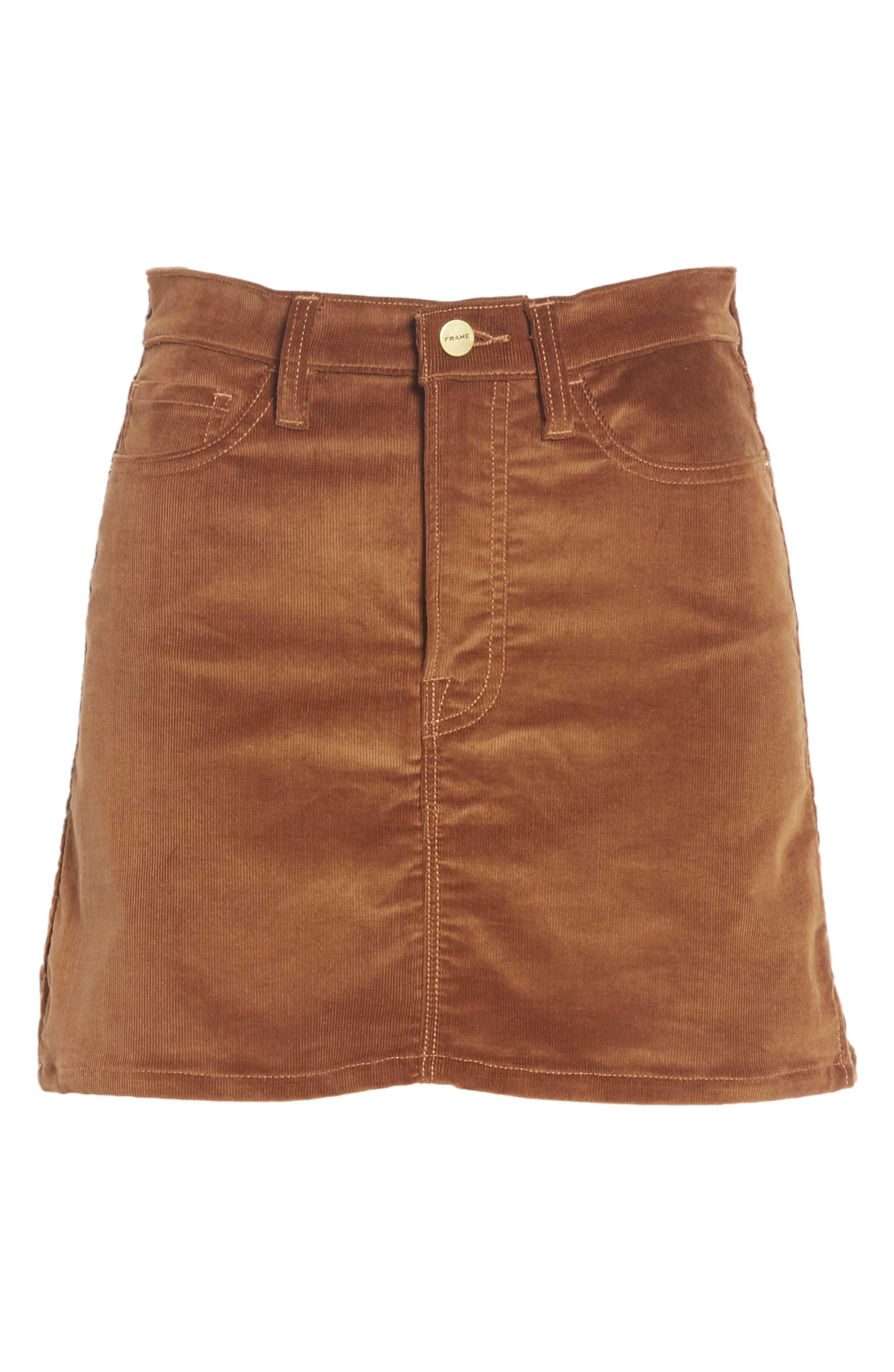 Le Mini Corduroy Skirt,                             Alternate thumbnail 6, color,                             253