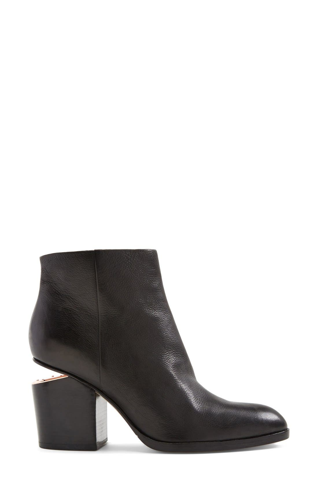 Gabi Bootie,                             Alternate thumbnail 4, color,                             BLACK LEATHER
