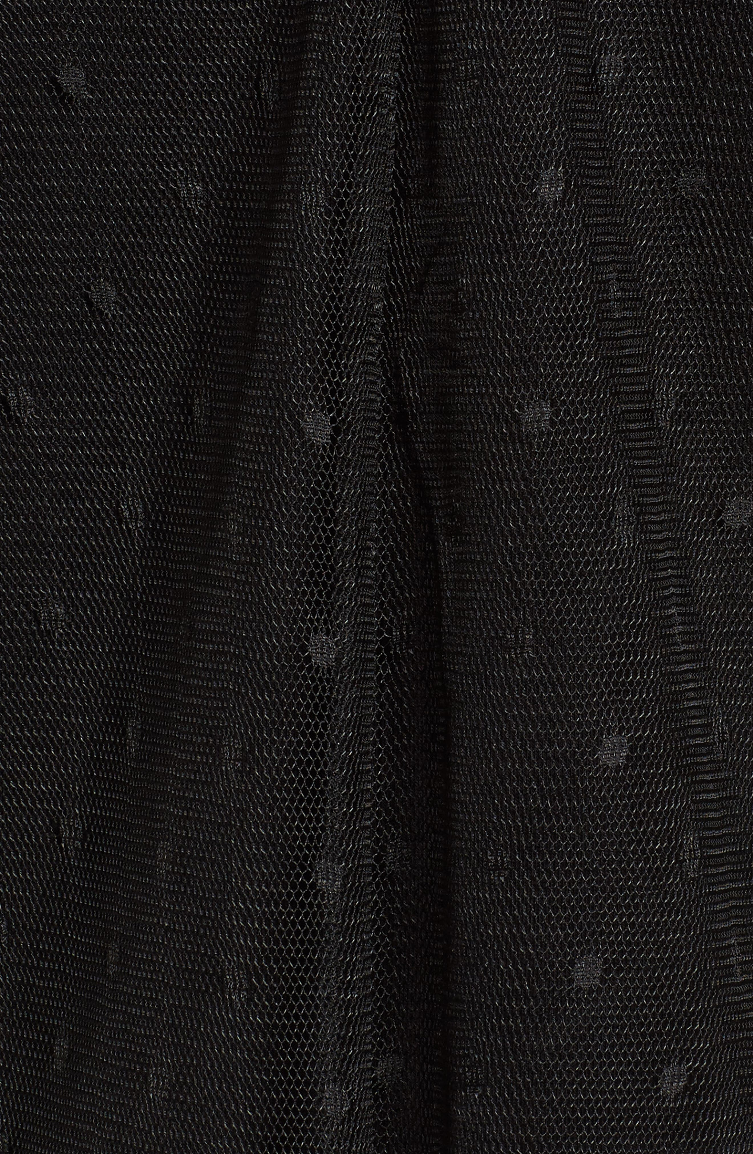 Ruffle Sleeve Mesh Top,                             Alternate thumbnail 5, color,                             001