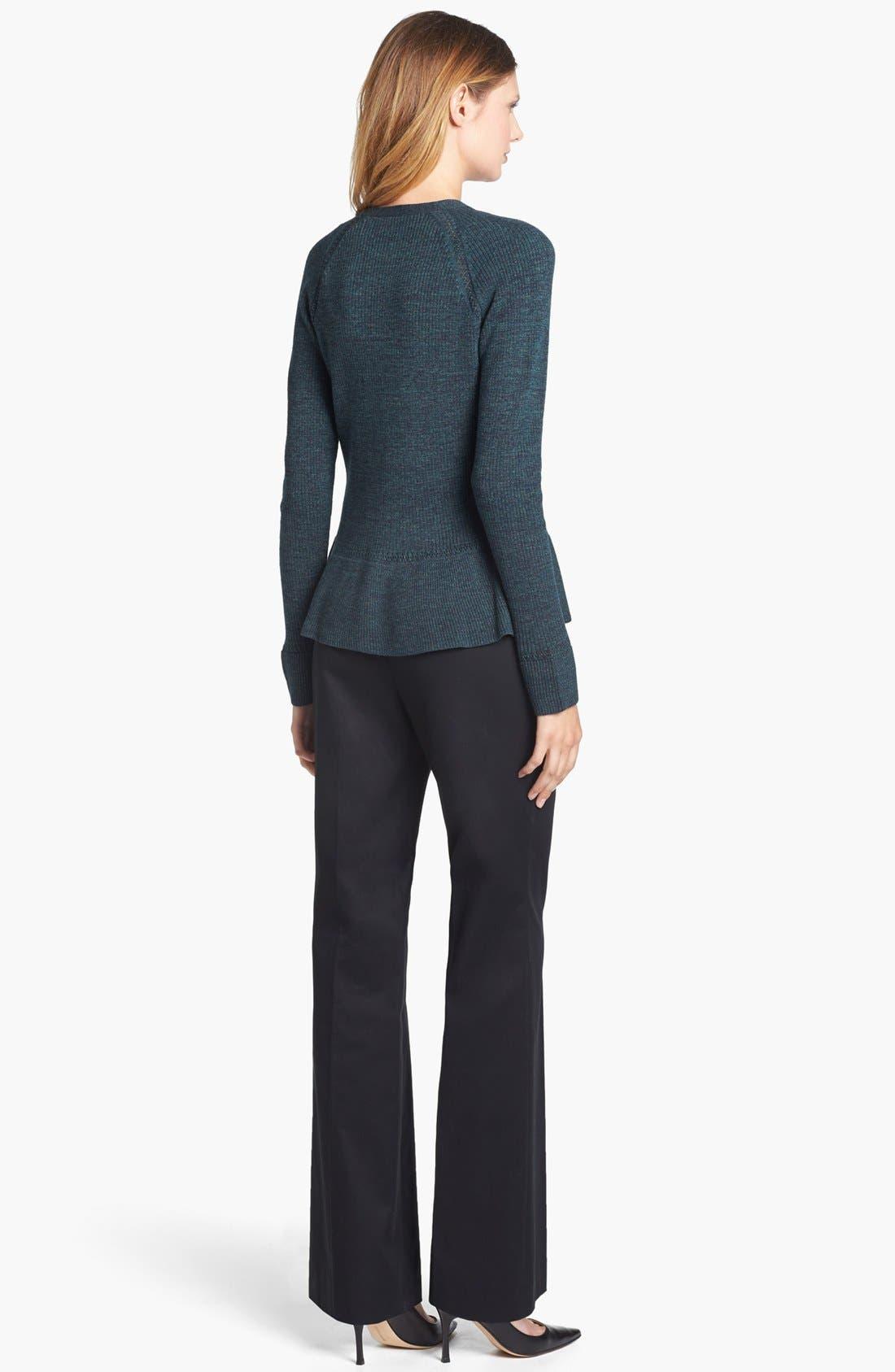 Classiques Entier Stretch Wool Pants,                             Alternate thumbnail 5, color,                             001