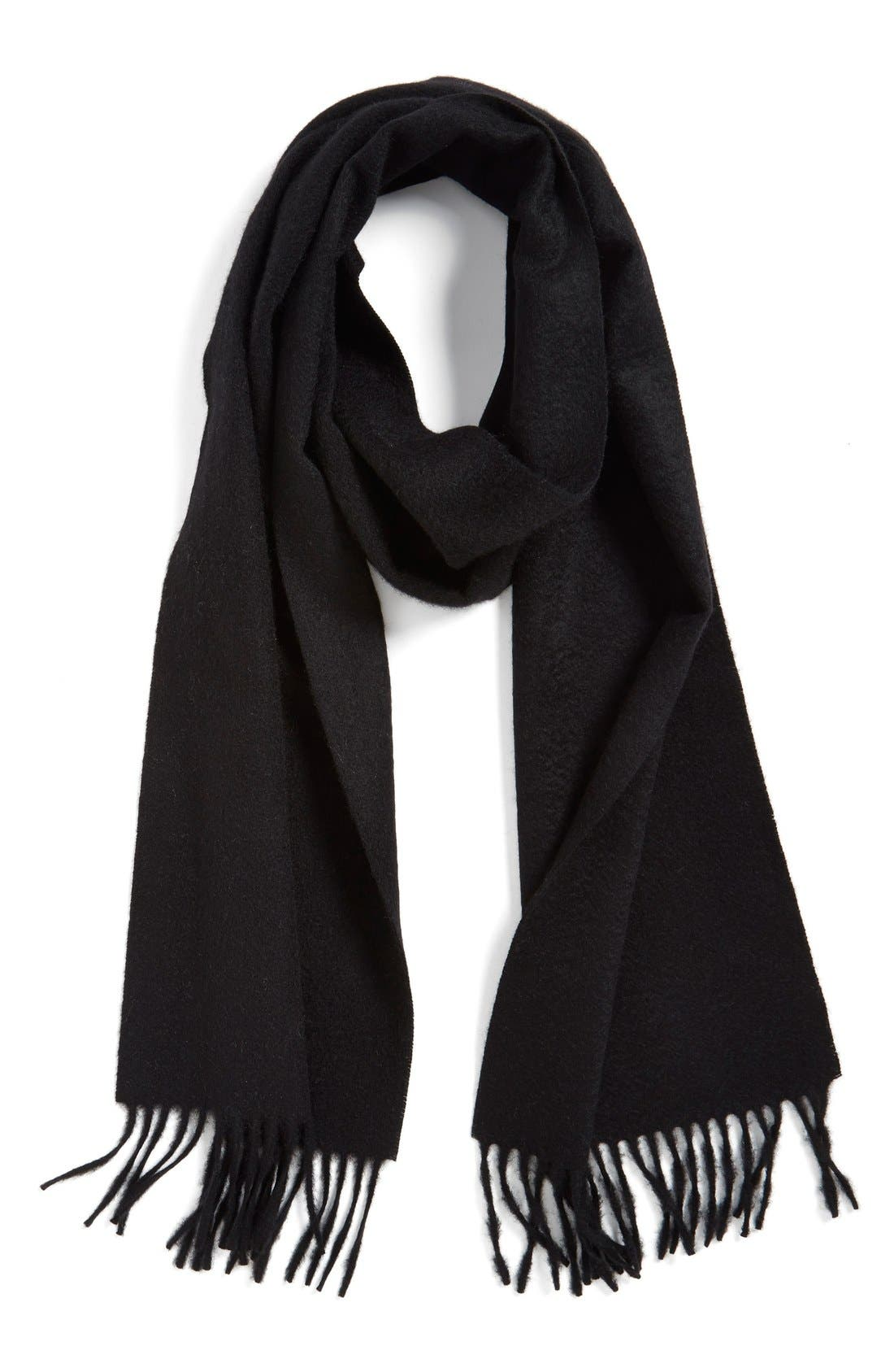 Solid Woven Cashmere Scarf,                         Main,                         color,