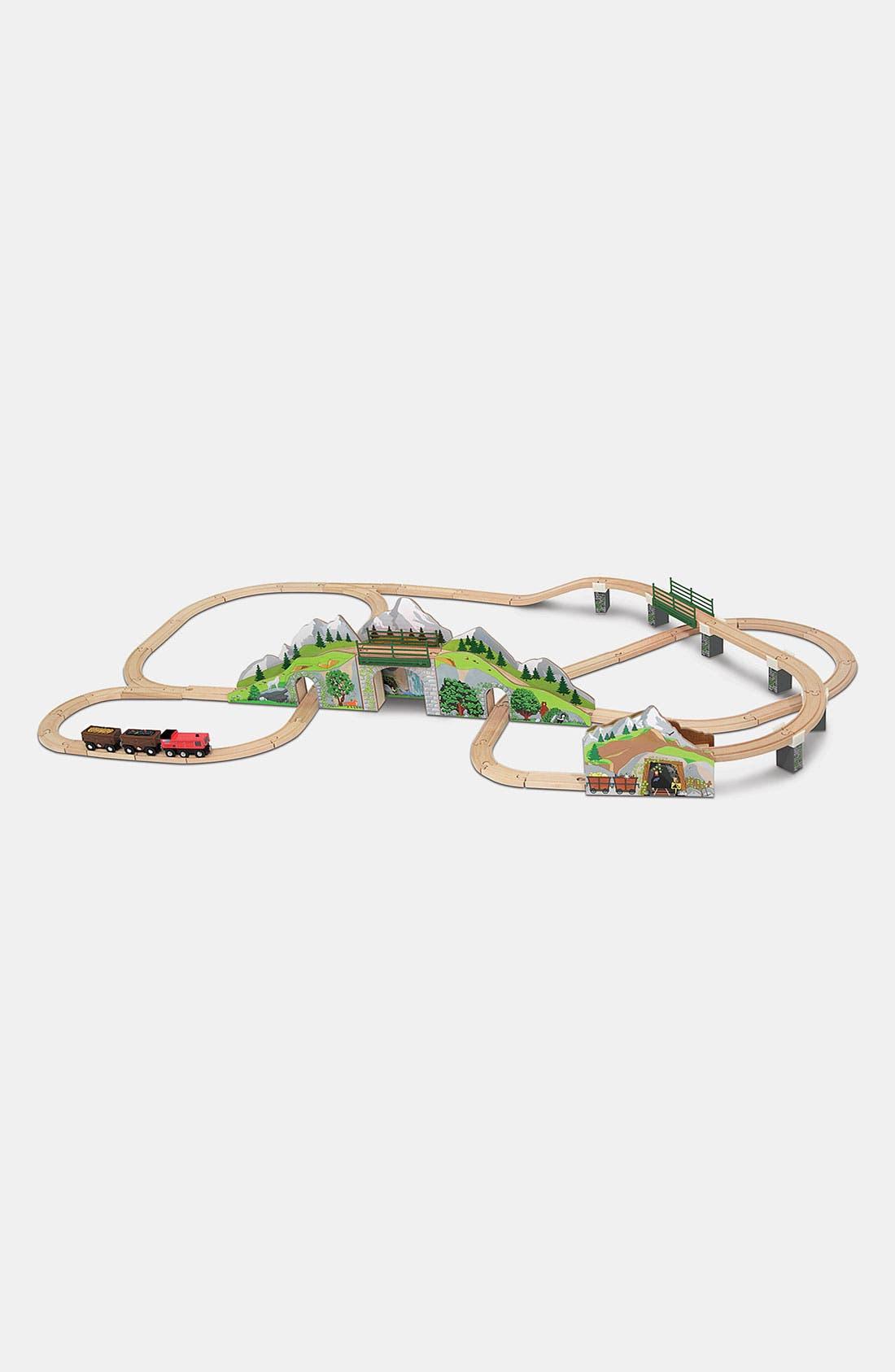 Toddler Melissa  Doug Mountain Tunnel Wooden Train Toy