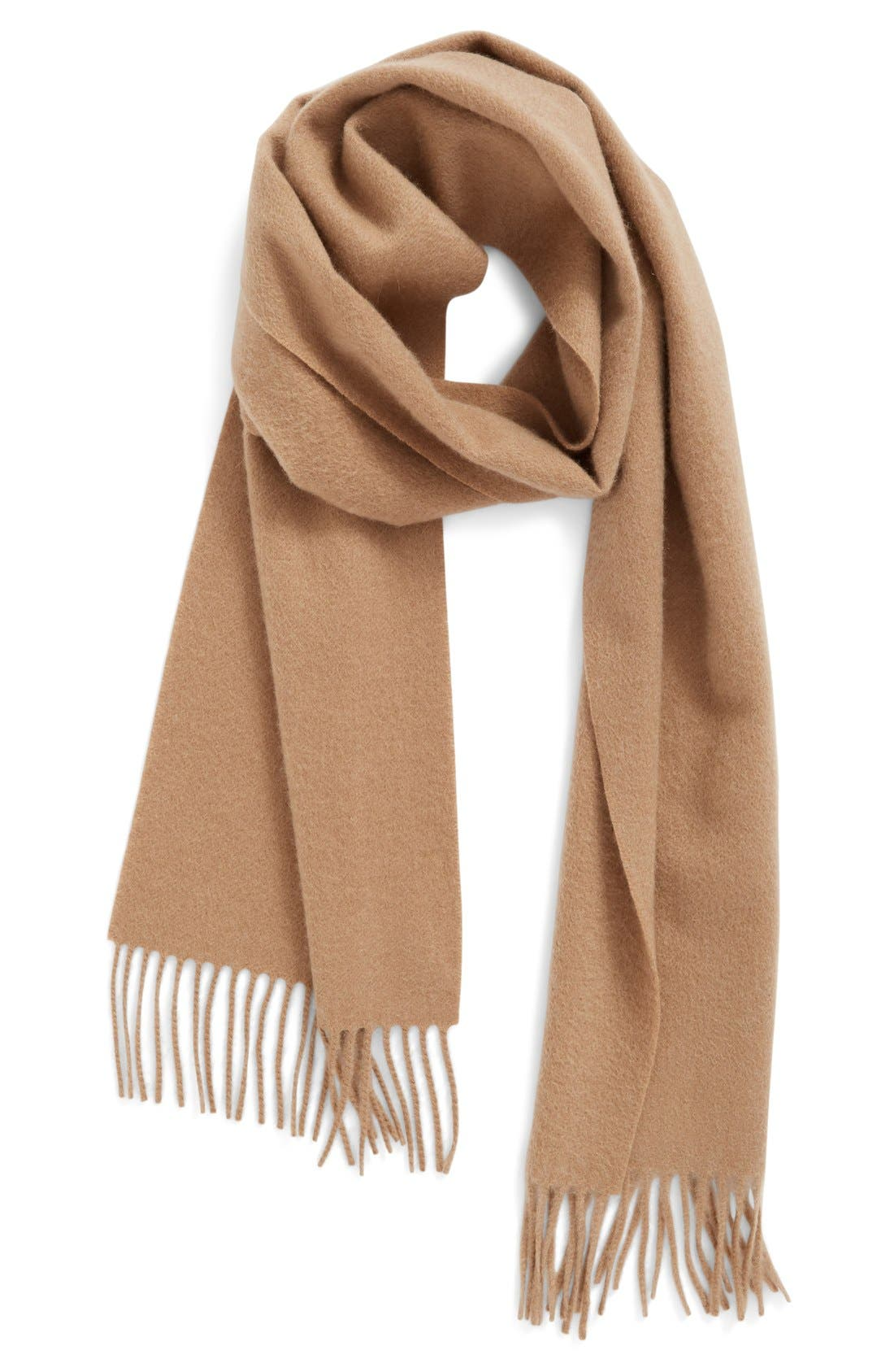 Solid Woven Cashmere Scarf,                             Main thumbnail 6, color,