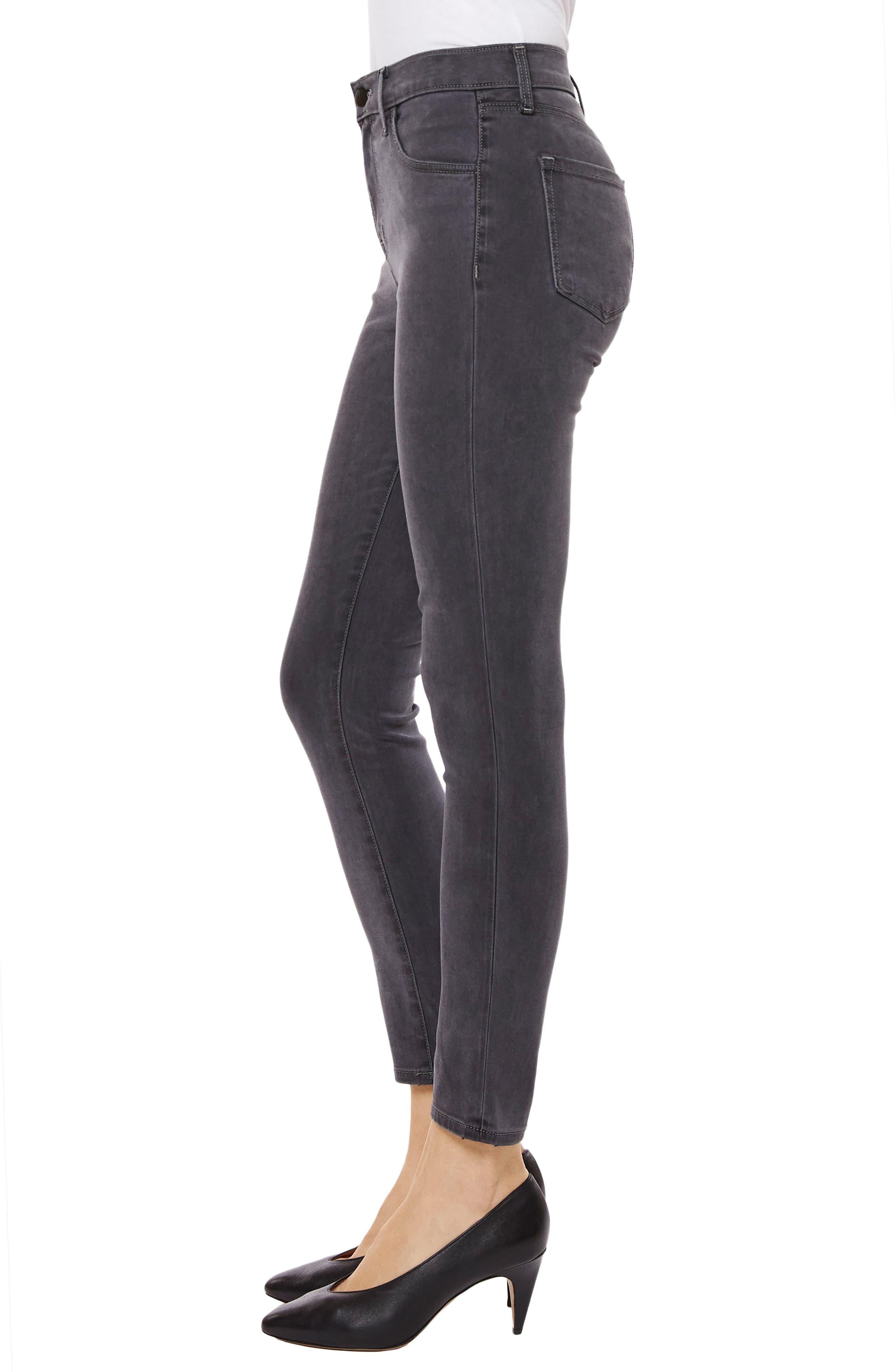 Alana High Waist Crop Skinny Jeans,                             Alternate thumbnail 3, color,                             010