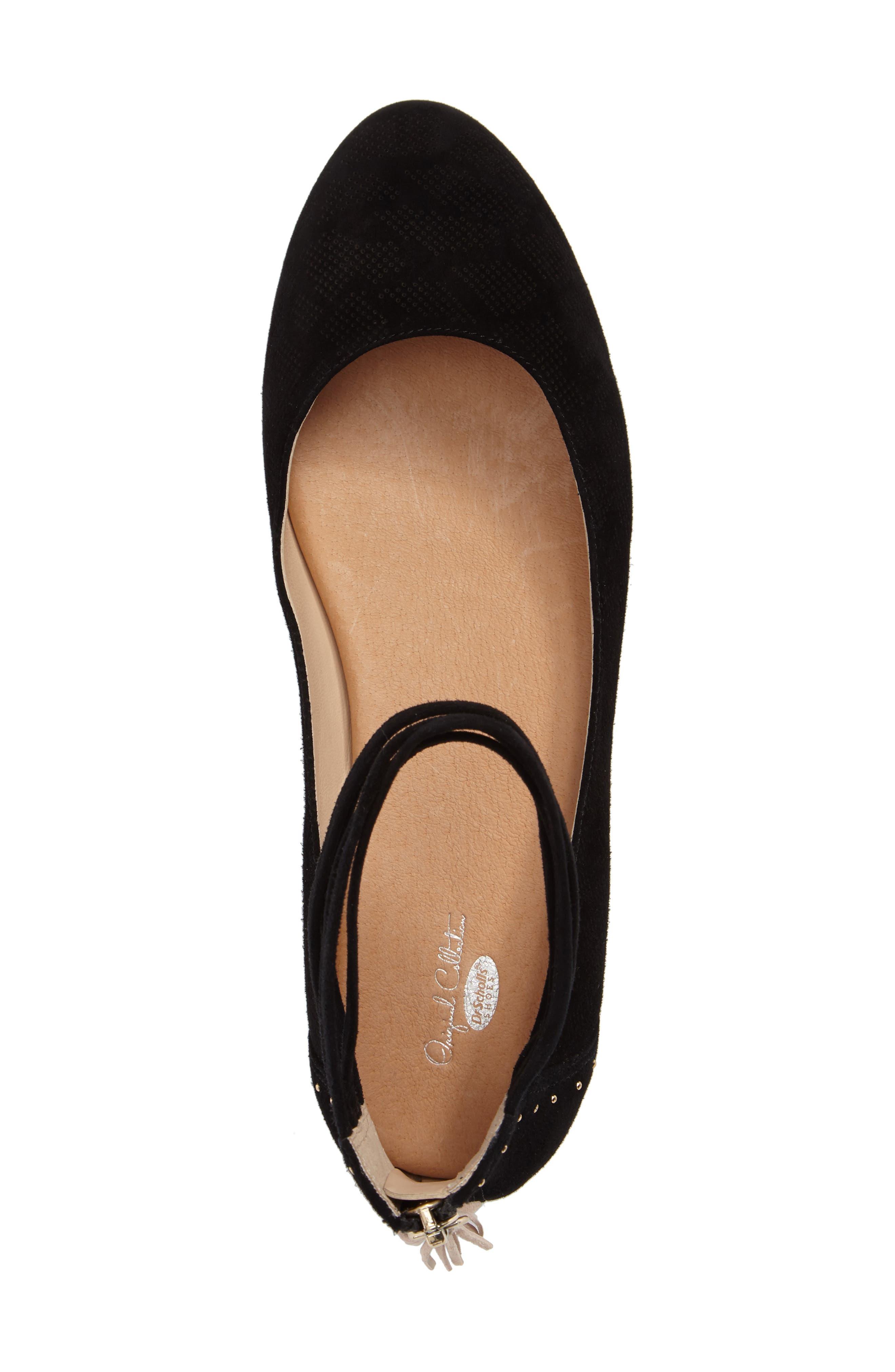 Vonne Ankle Wrap Ballet Flat,                             Alternate thumbnail 5, color,                             001