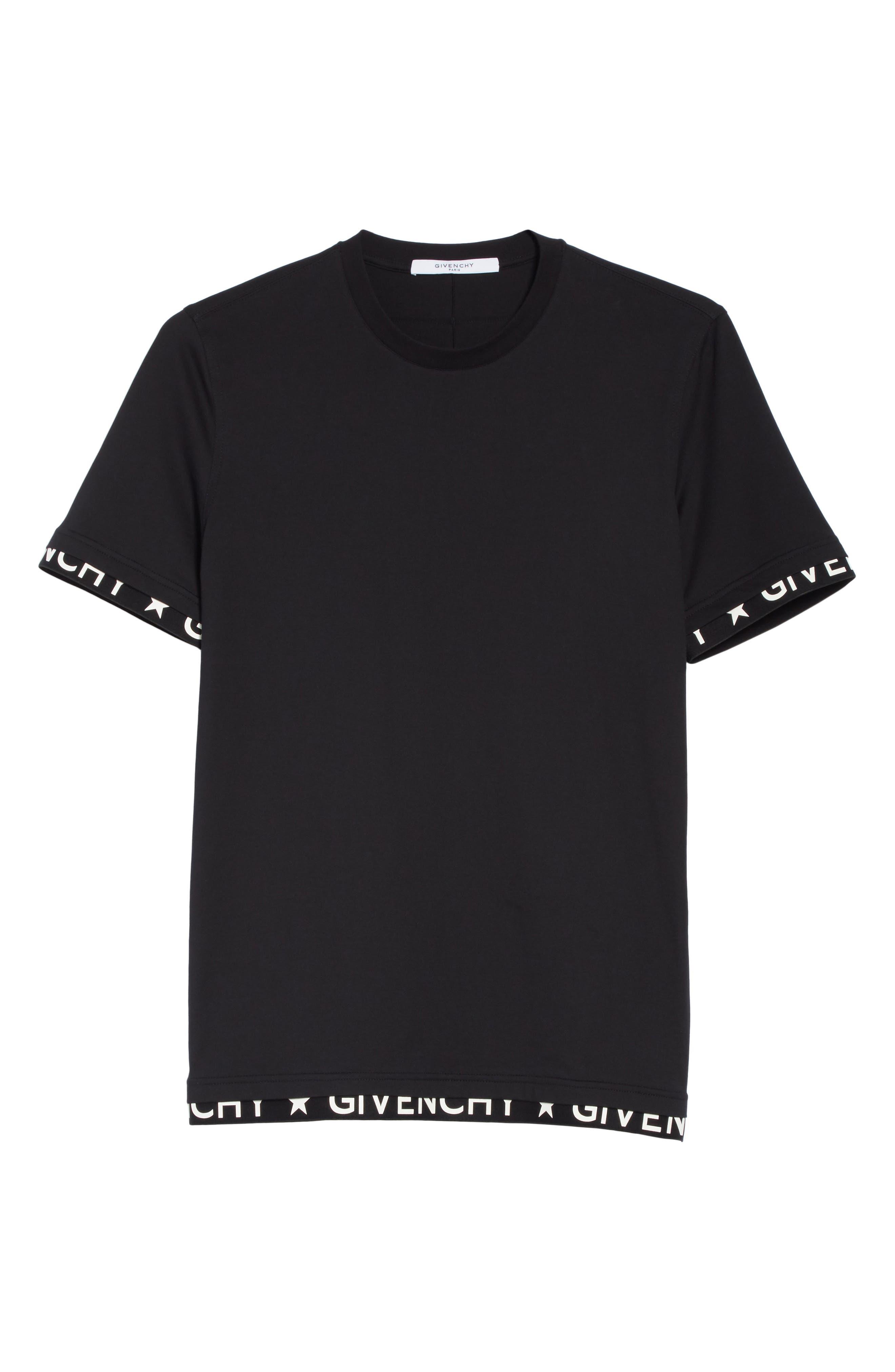 Half Band Crewneck T-Shirt,                             Alternate thumbnail 6, color,                             001