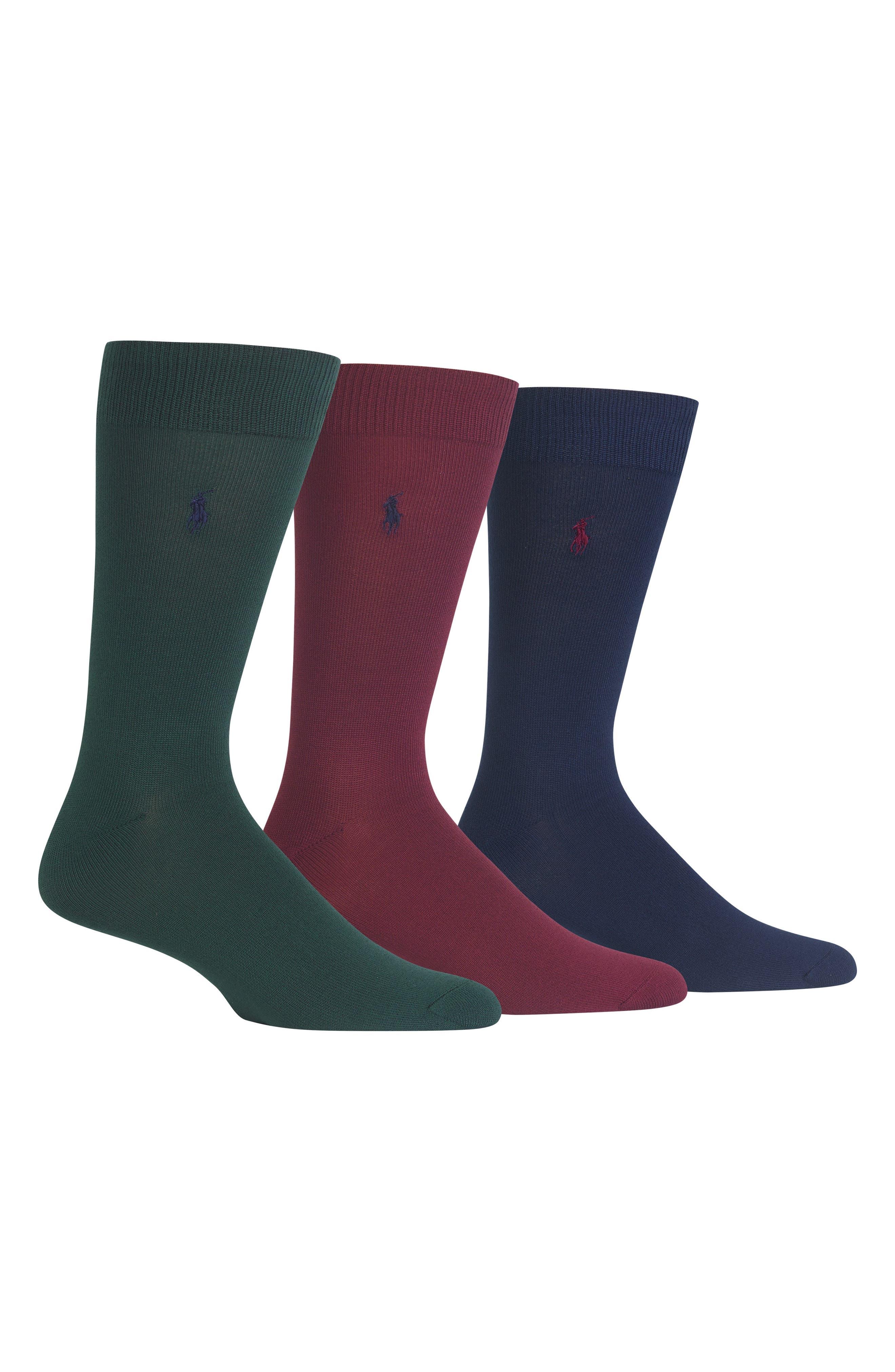 Assorted 3-Pack Supersoft Socks,                         Main,                         color, HUNTER
