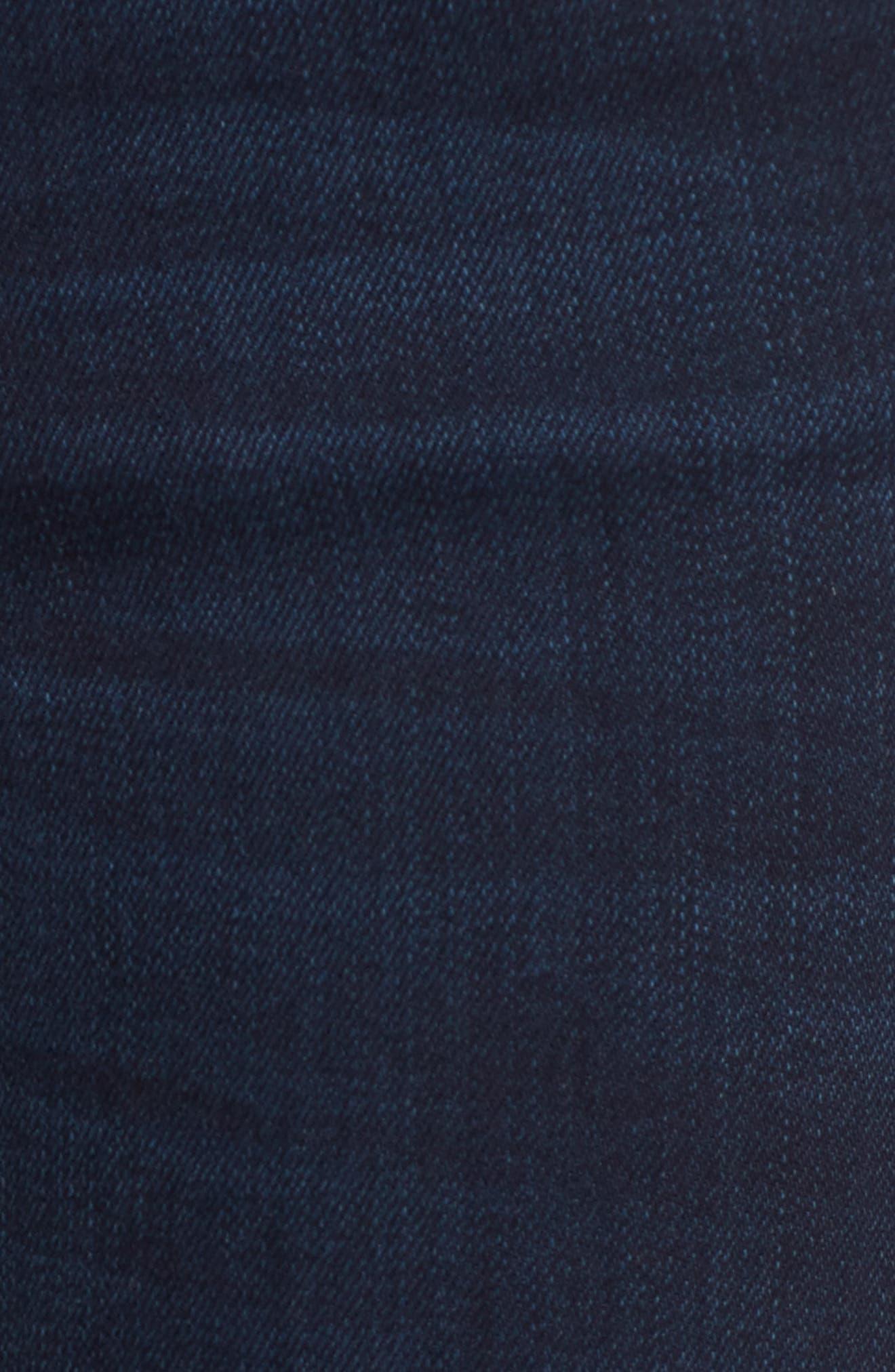 Donna Frayed Skinny Crop Jeans,                             Alternate thumbnail 5, color,                             491