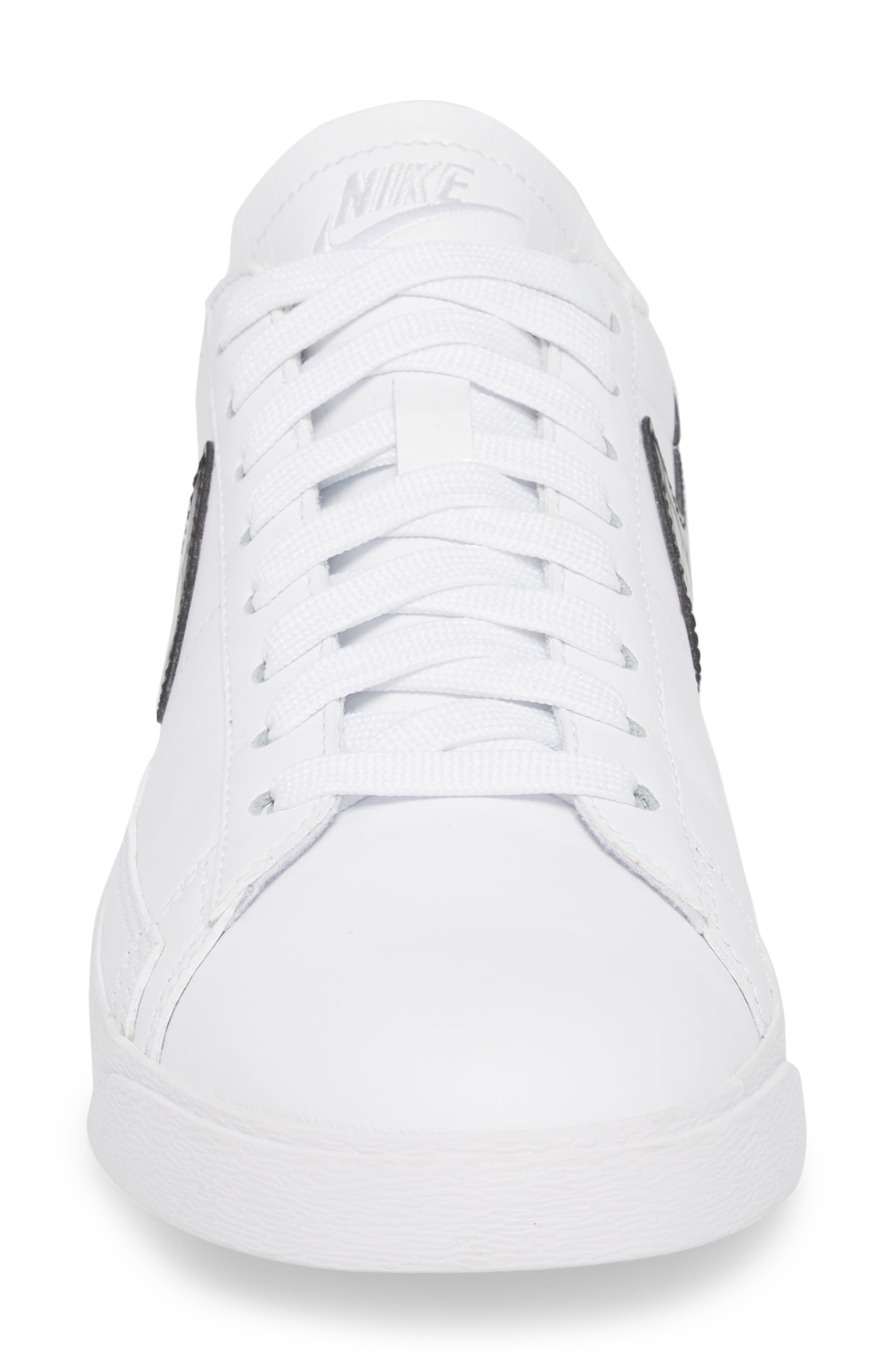 Blazer Low Essential Sneaker,                             Alternate thumbnail 4, color,                             100