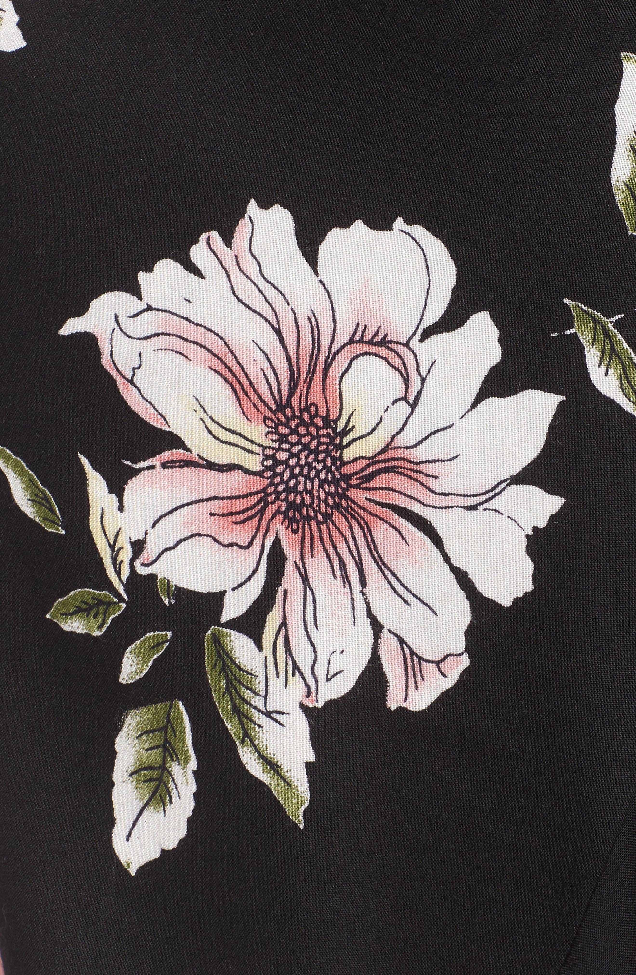 Hibiscus Faux Wrap Mini Skirt,                             Alternate thumbnail 5, color,