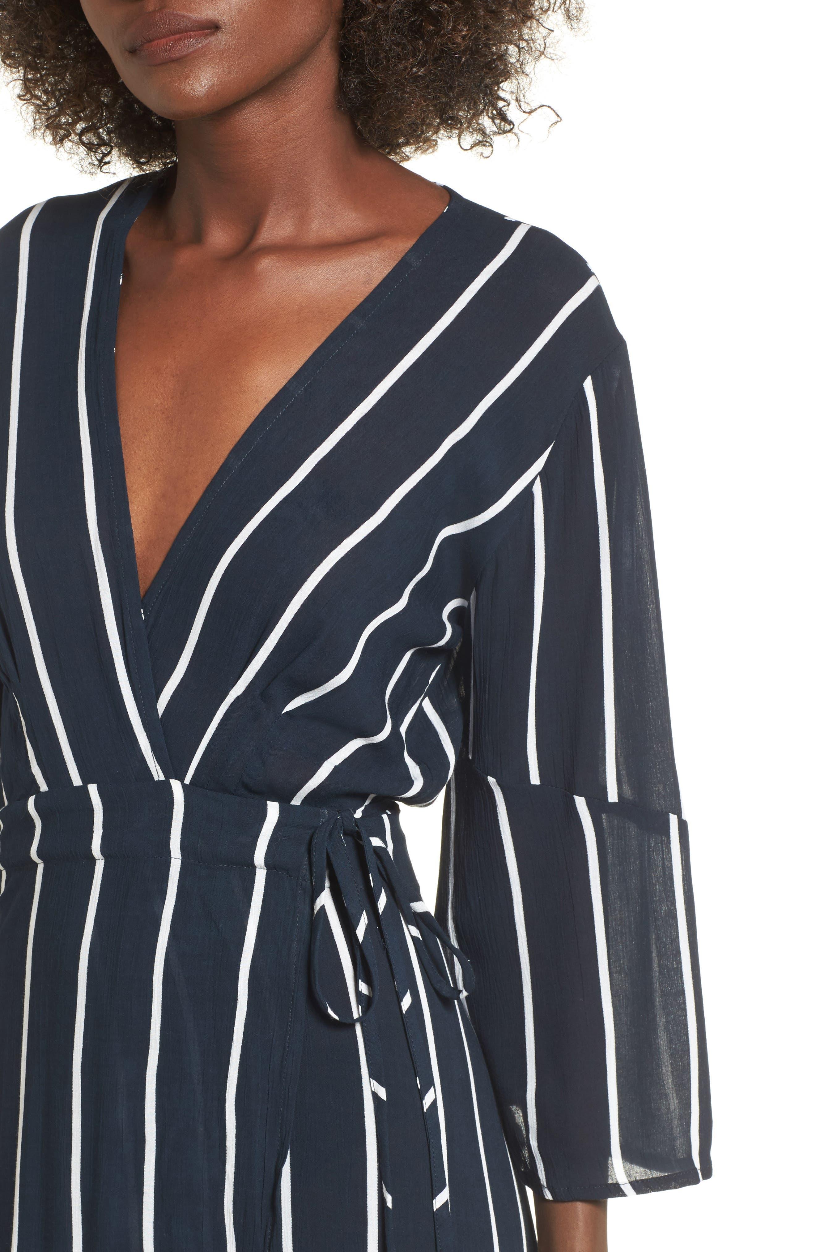 Amour Wrap Dress,                             Alternate thumbnail 4, color,                             400