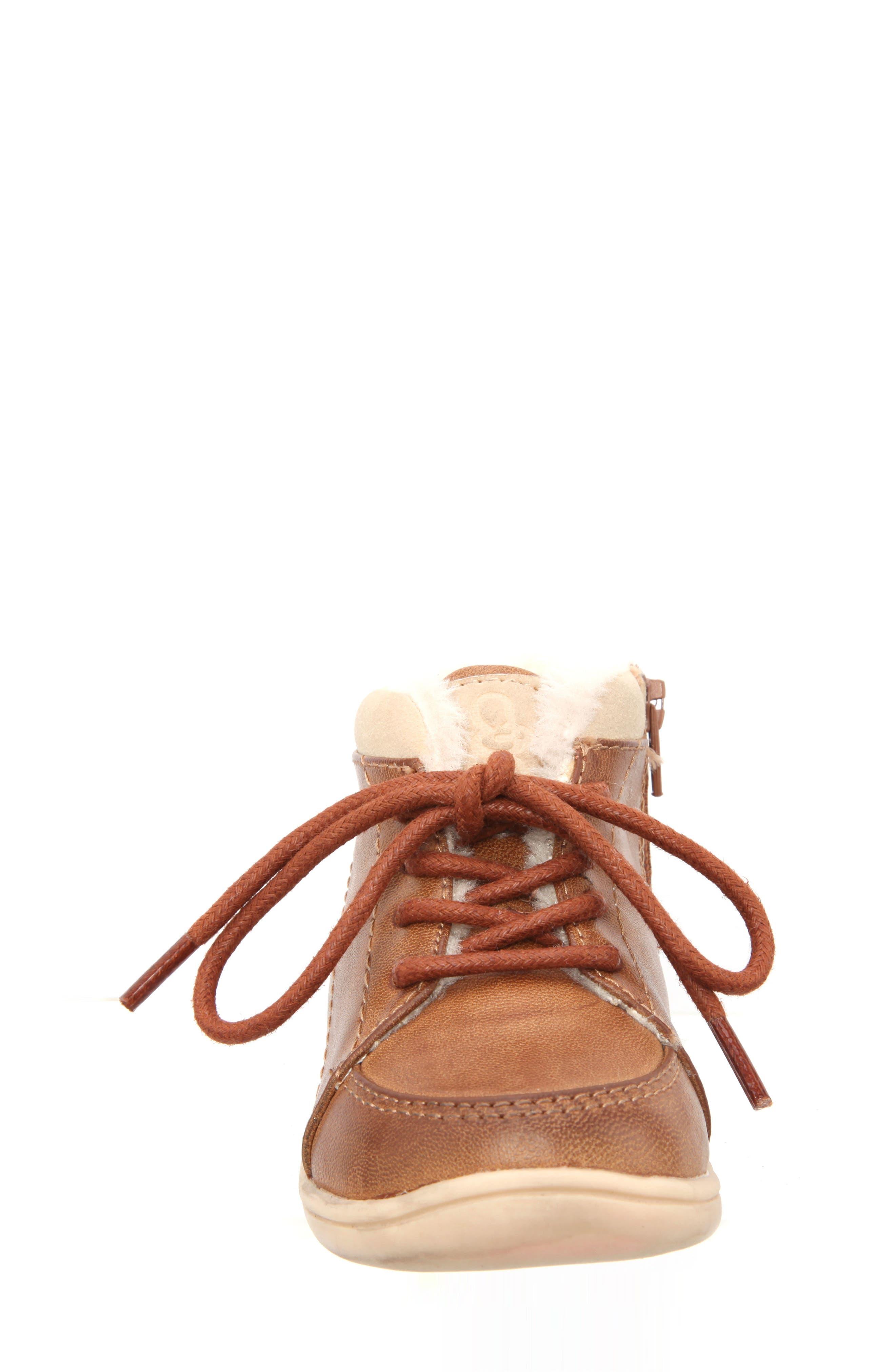 Nina Mobility Moe Sneaker,                             Alternate thumbnail 4, color,                             BROWN BURNISH