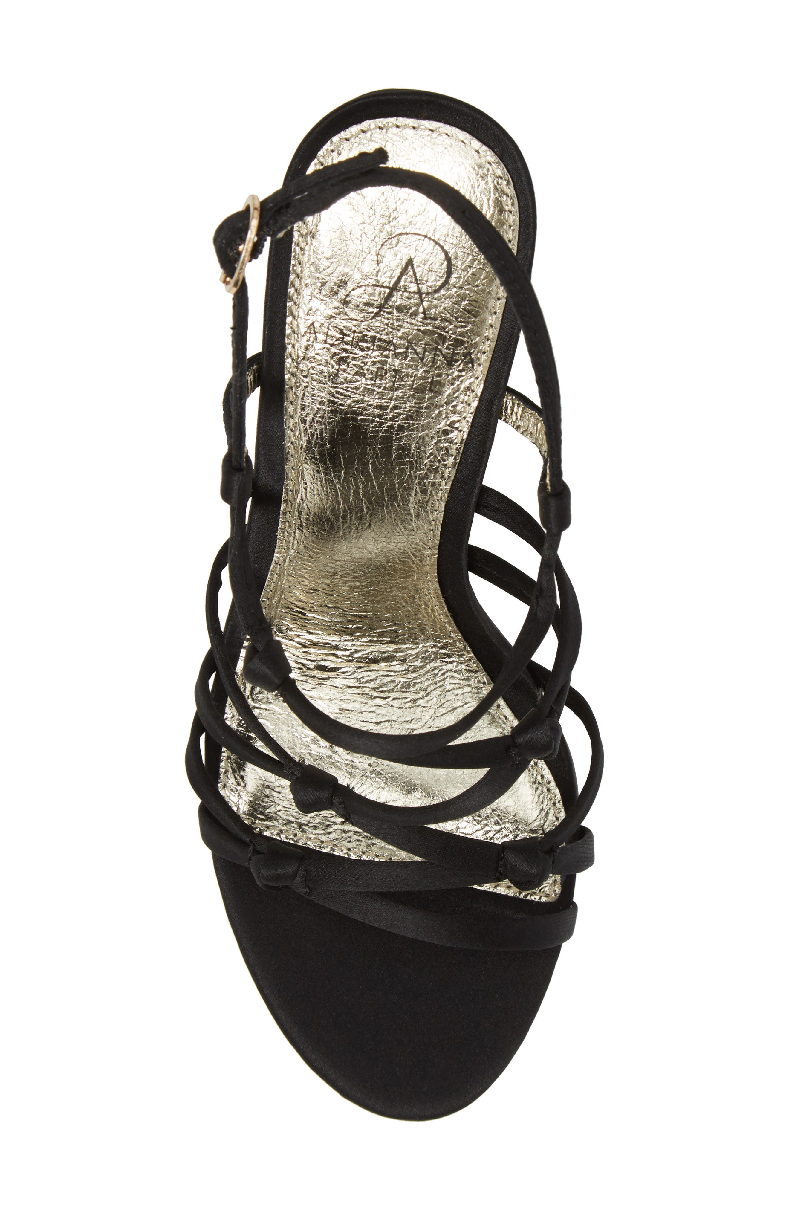 Adelson Knotted Strappy Sandal,                             Alternate thumbnail 5, color,                             001