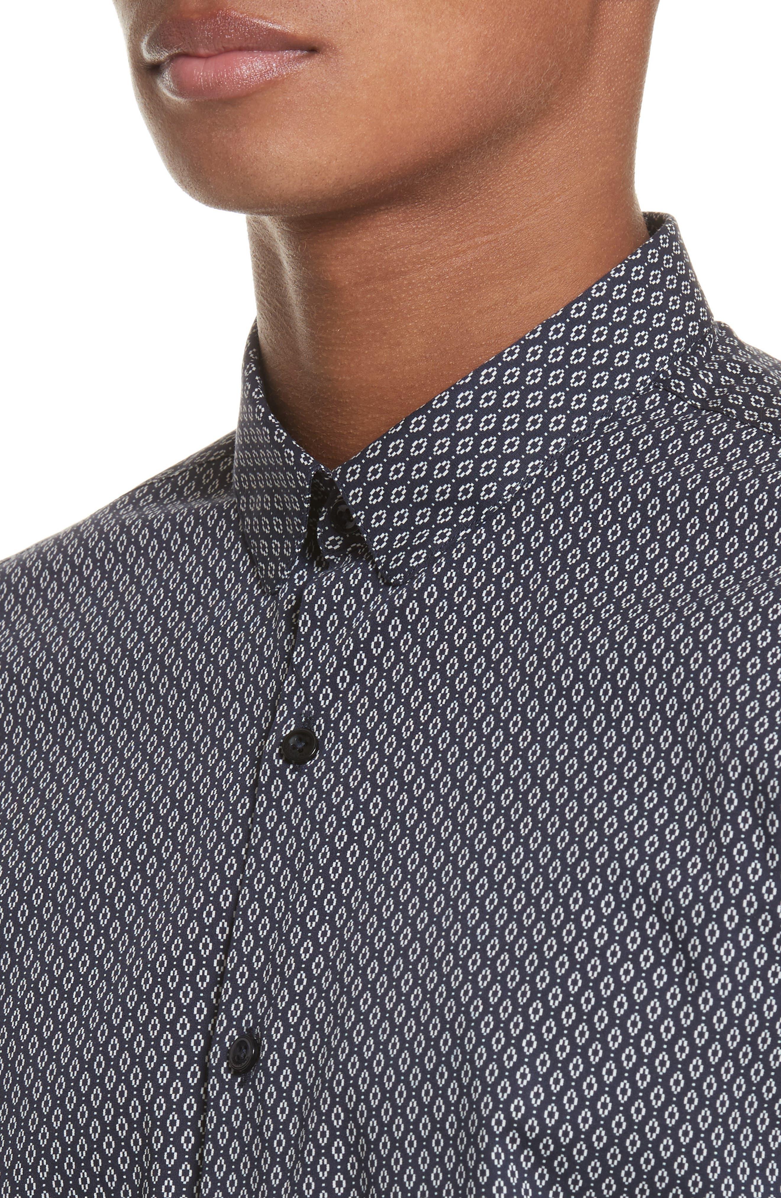Diamond Print Shirt,                             Alternate thumbnail 5, color,