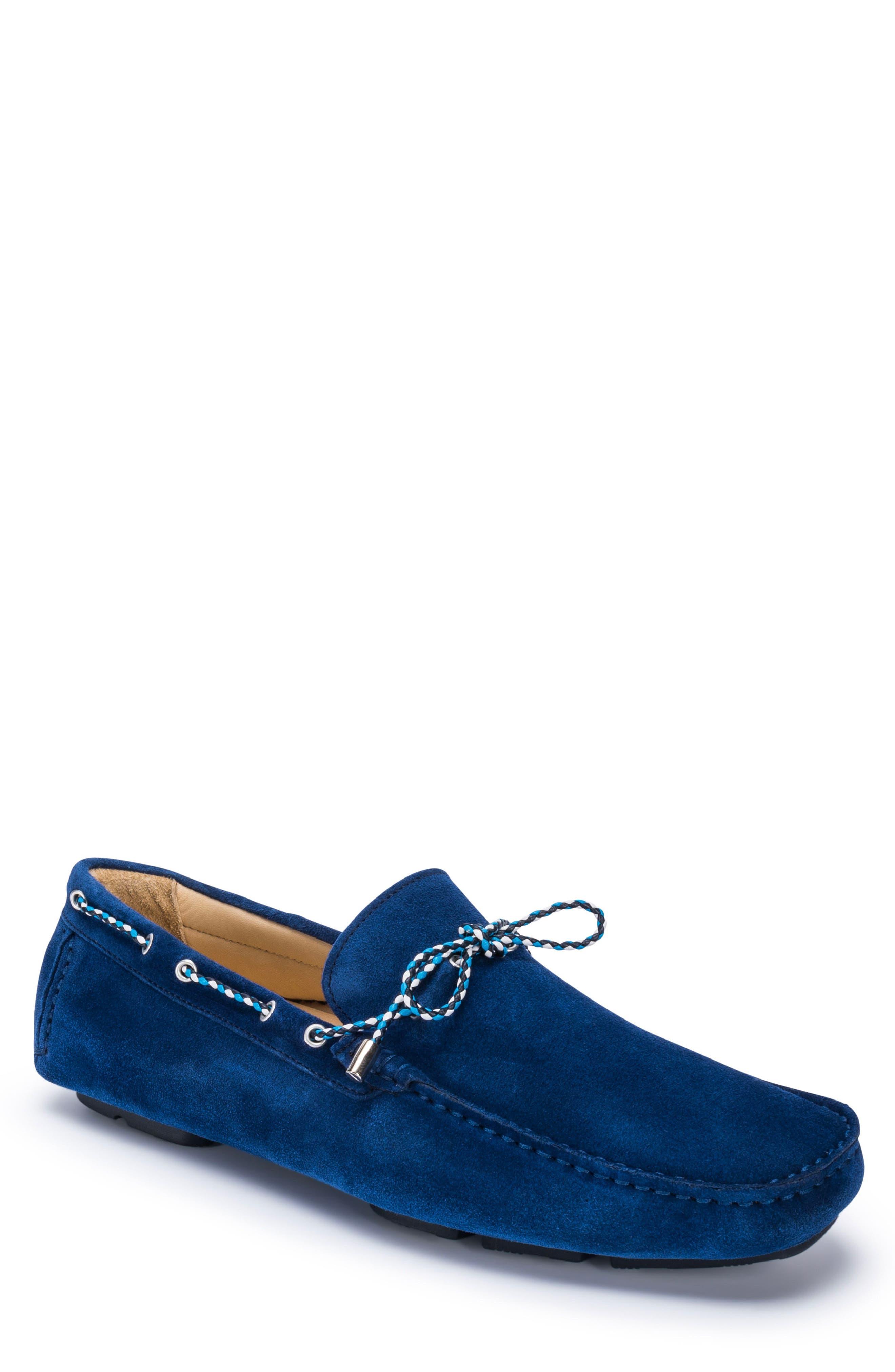men's bugatchi 'monte carlo' driving shoe, size 12 m - blue