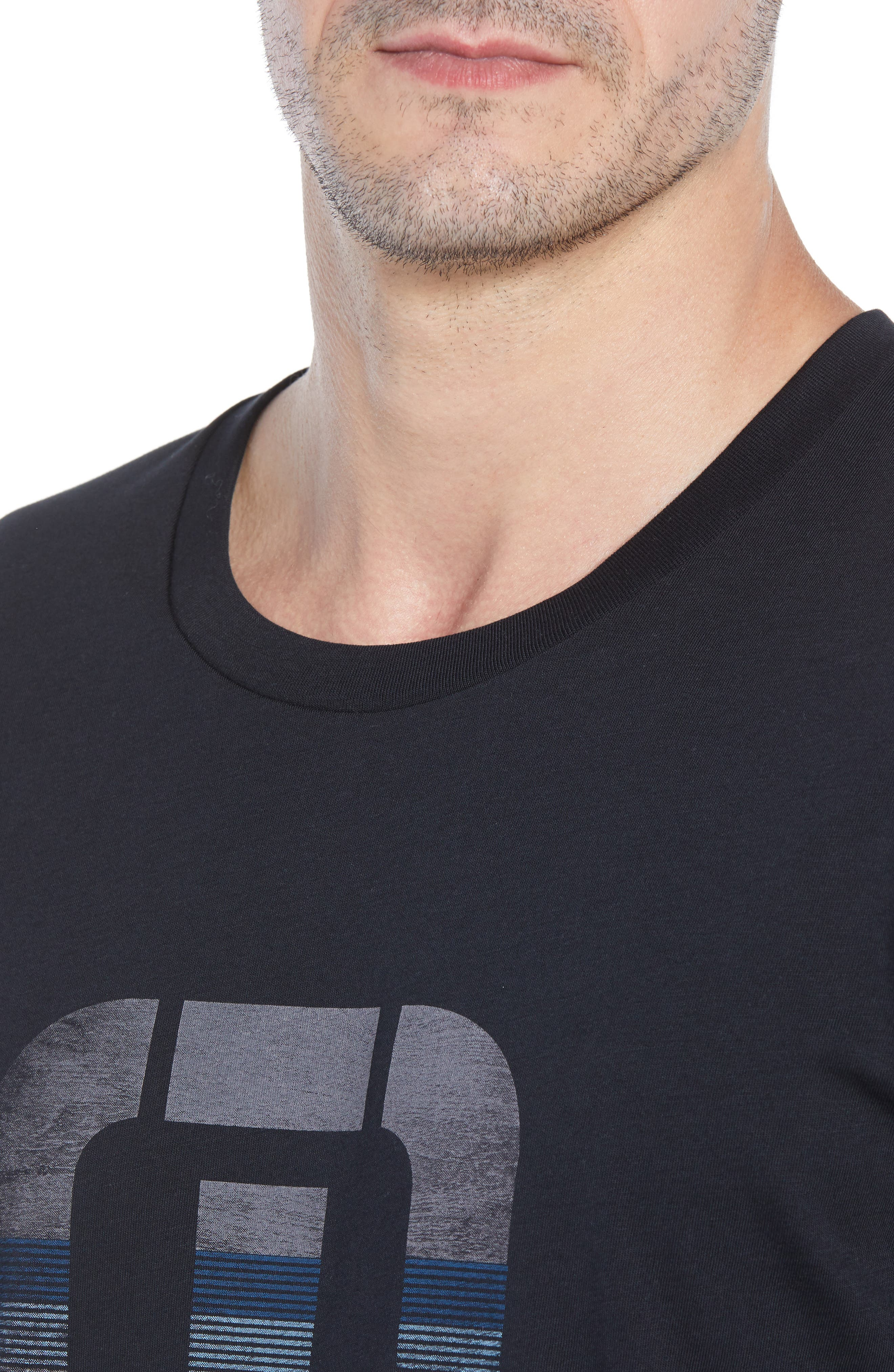 Rock City Crewneck T-Shirt,                             Alternate thumbnail 4, color,                             BLACK