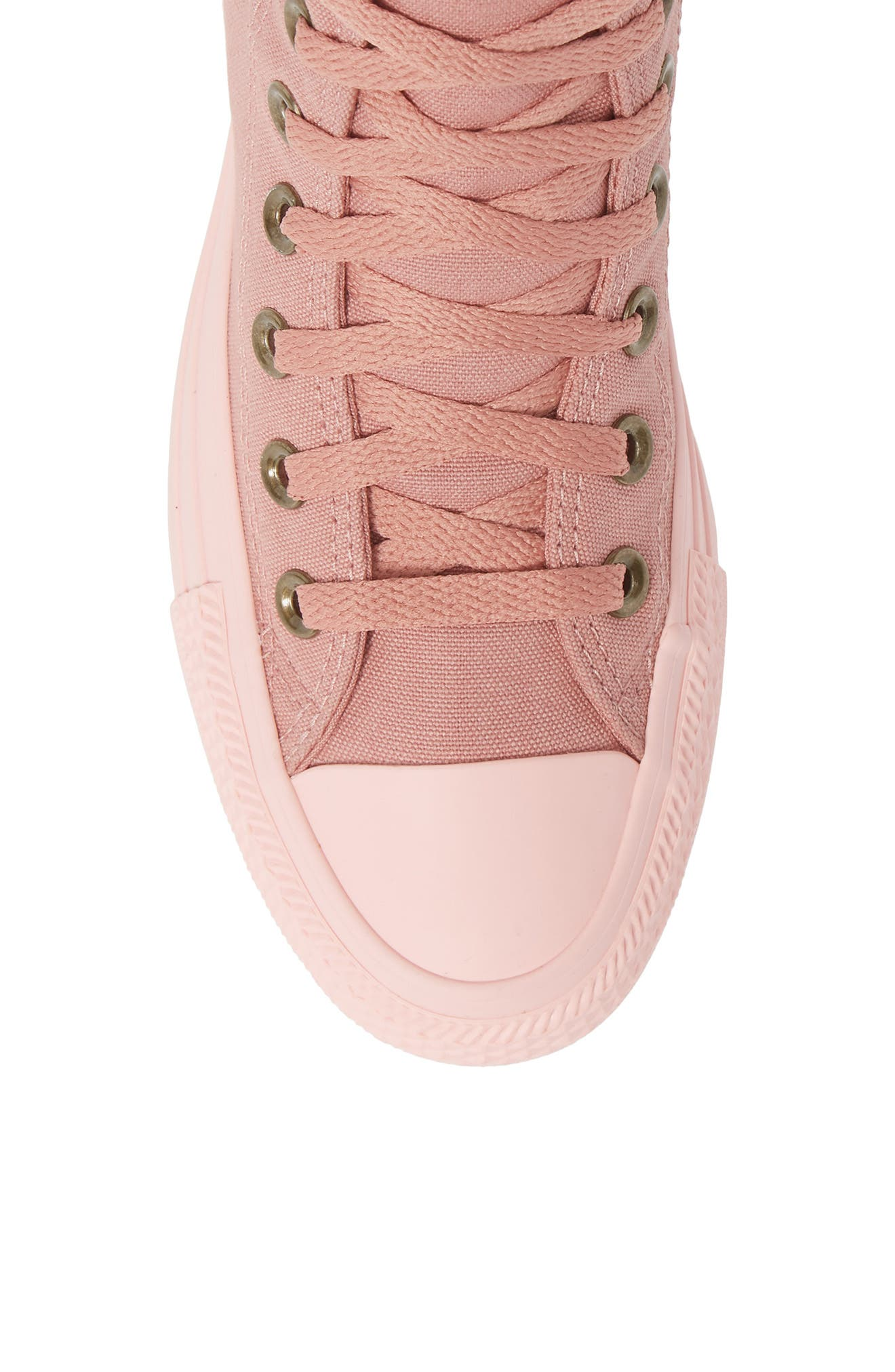 Chuck Taylor<sup>®</sup> All Star<sup>®</sup> Botanical High Top Sneaker,                             Alternate thumbnail 5, color,                             RUST PINK