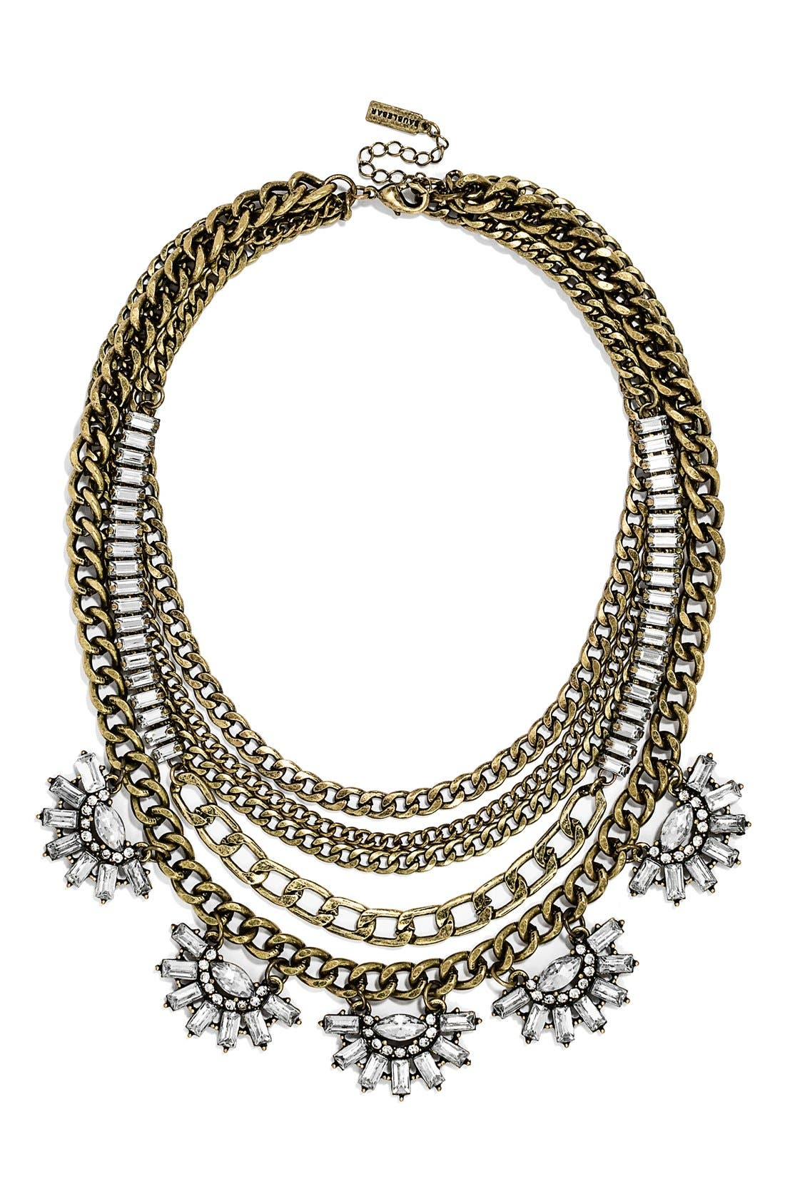 'Sundial' Chain Bib Necklace,                             Main thumbnail 1, color,                             710
