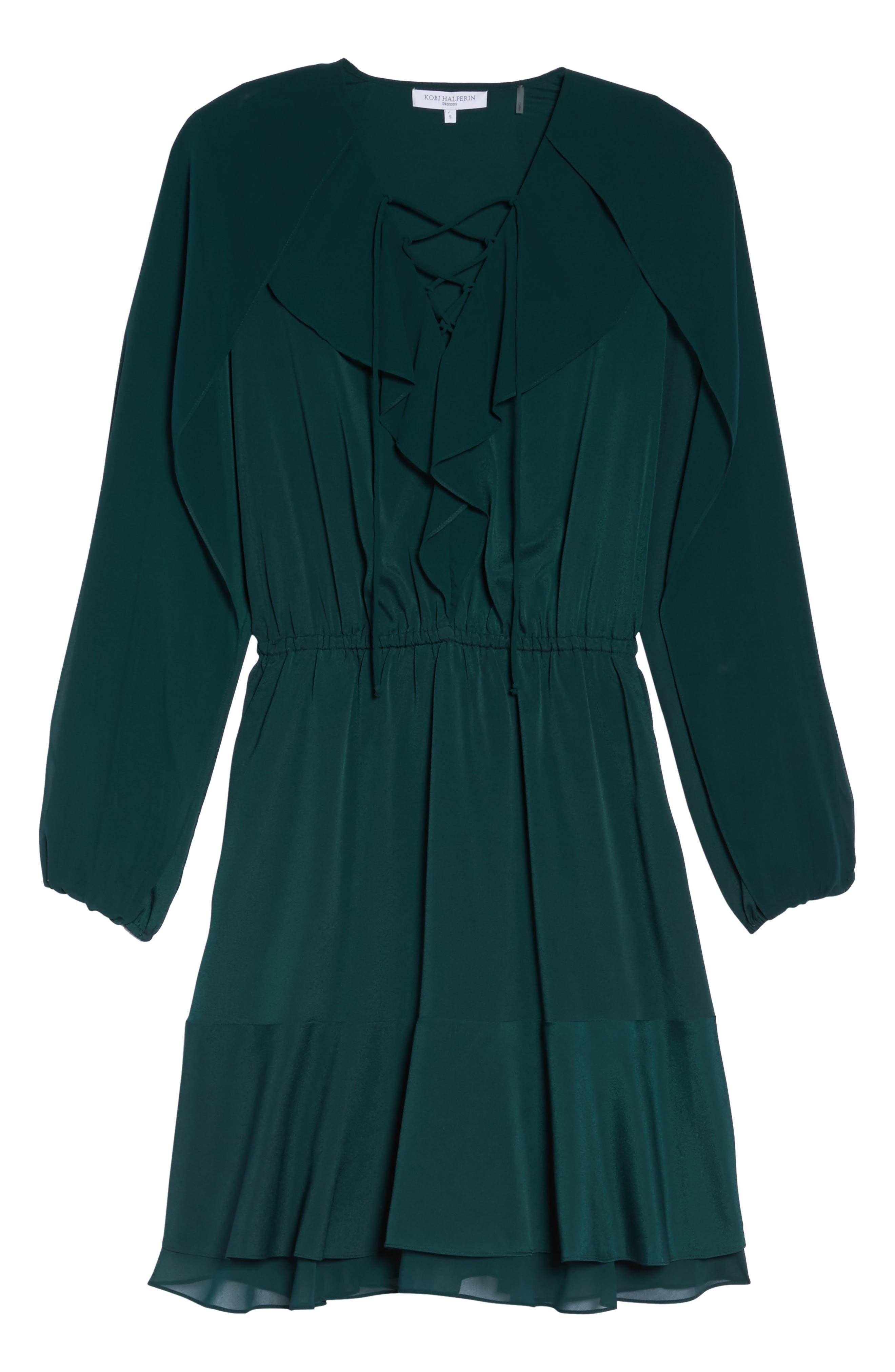 Keely Ruffle Blouson Dress,                             Alternate thumbnail 6, color,                             309