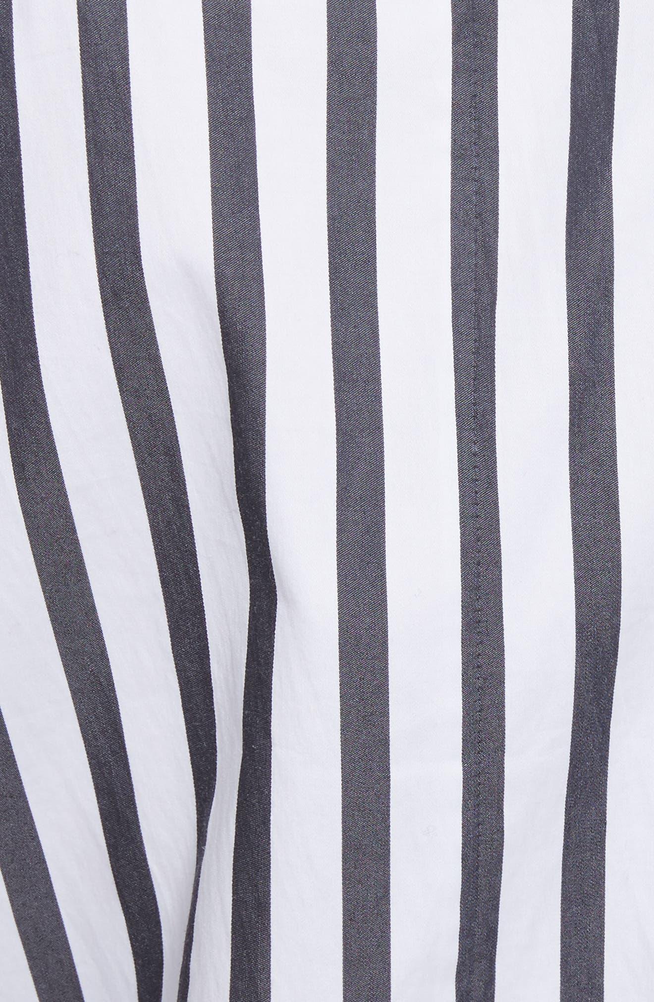 Britten Stripe Cotton Maxi Dress,                             Alternate thumbnail 5, color,                             125