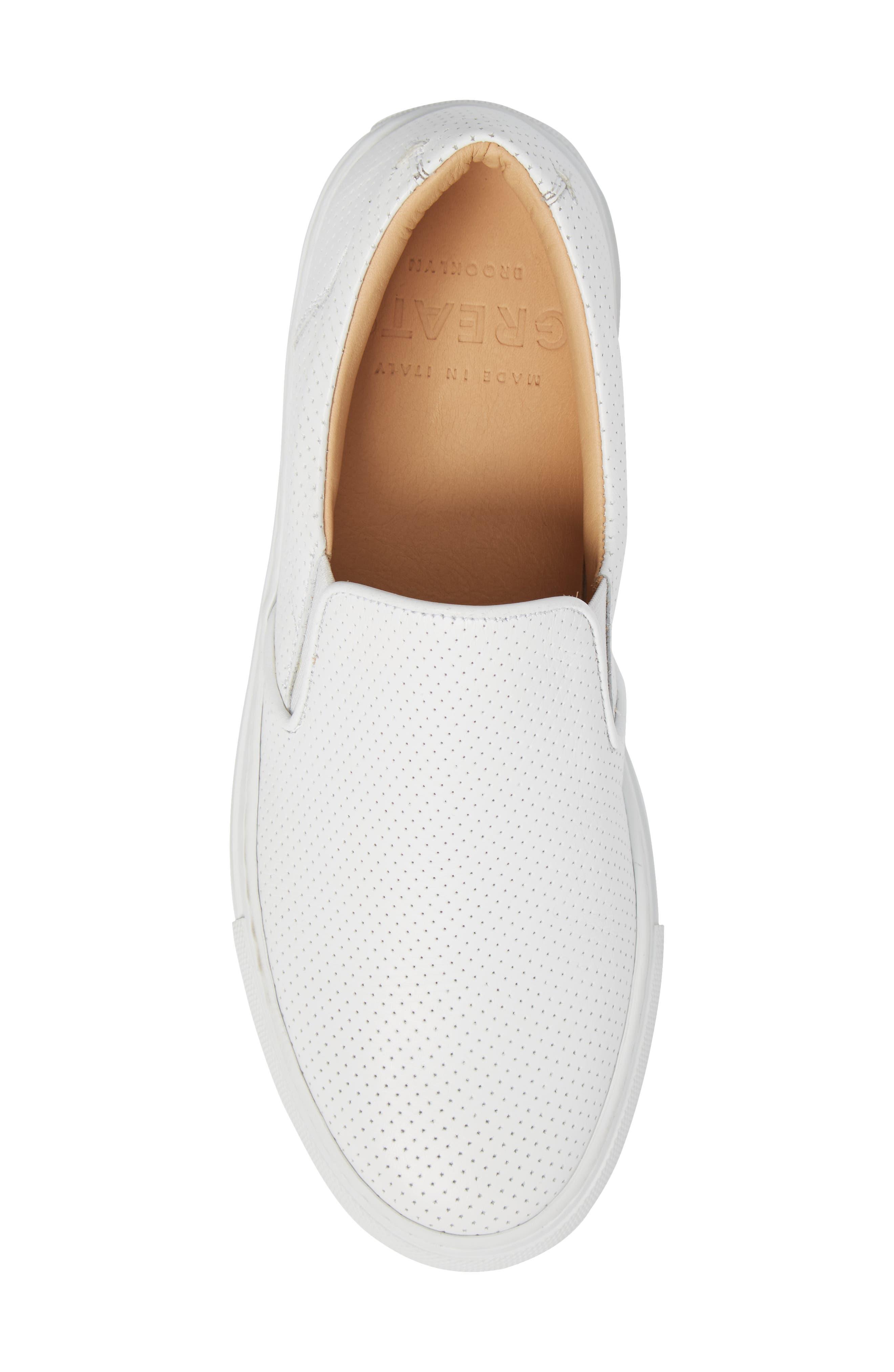 Wooster Slip-On Sneaker,                             Alternate thumbnail 5, color,                             WHITE PERFORATED