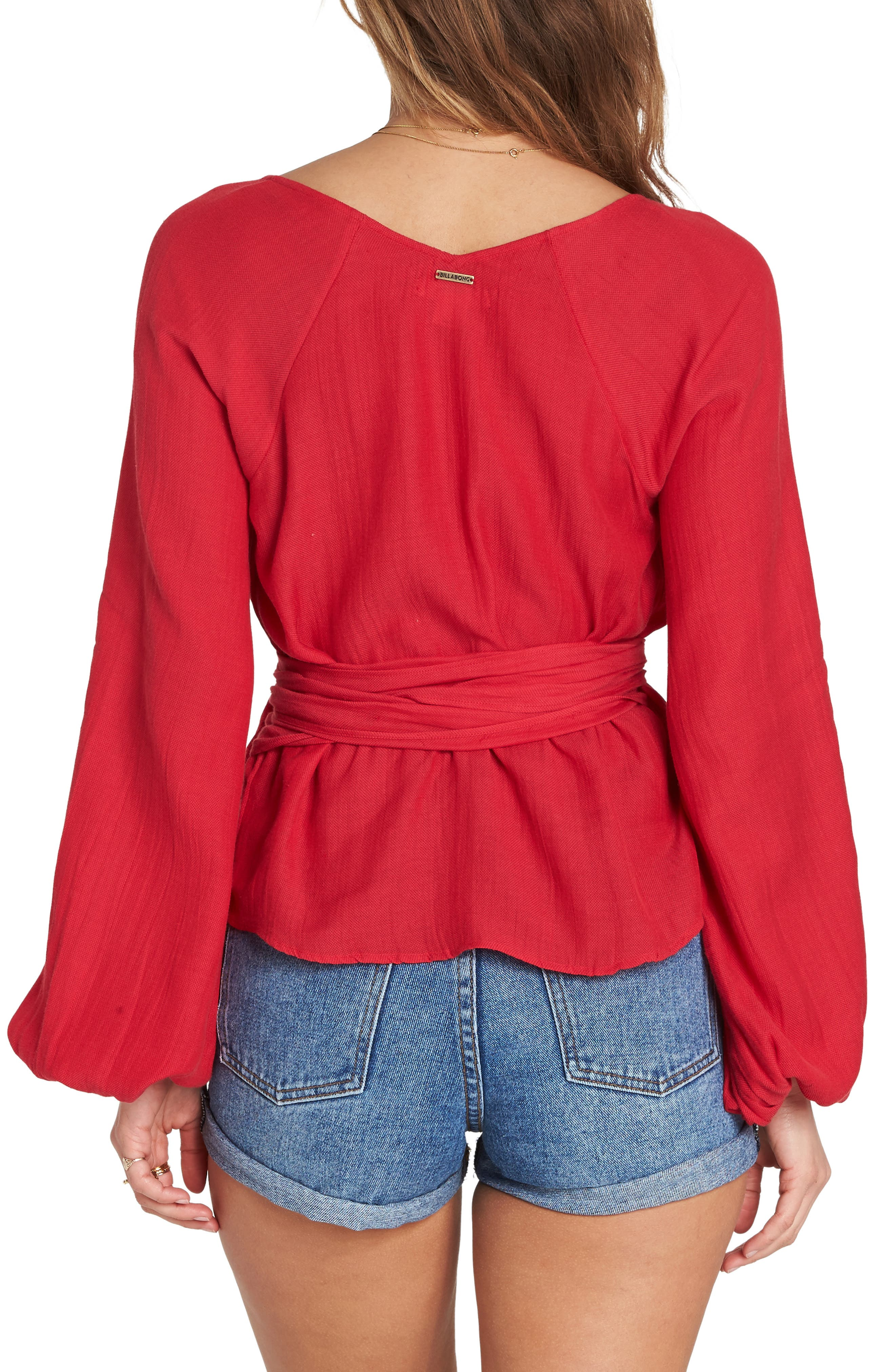 Shine On Bell Sleeve Wrap Top,                             Alternate thumbnail 2, color,                             600