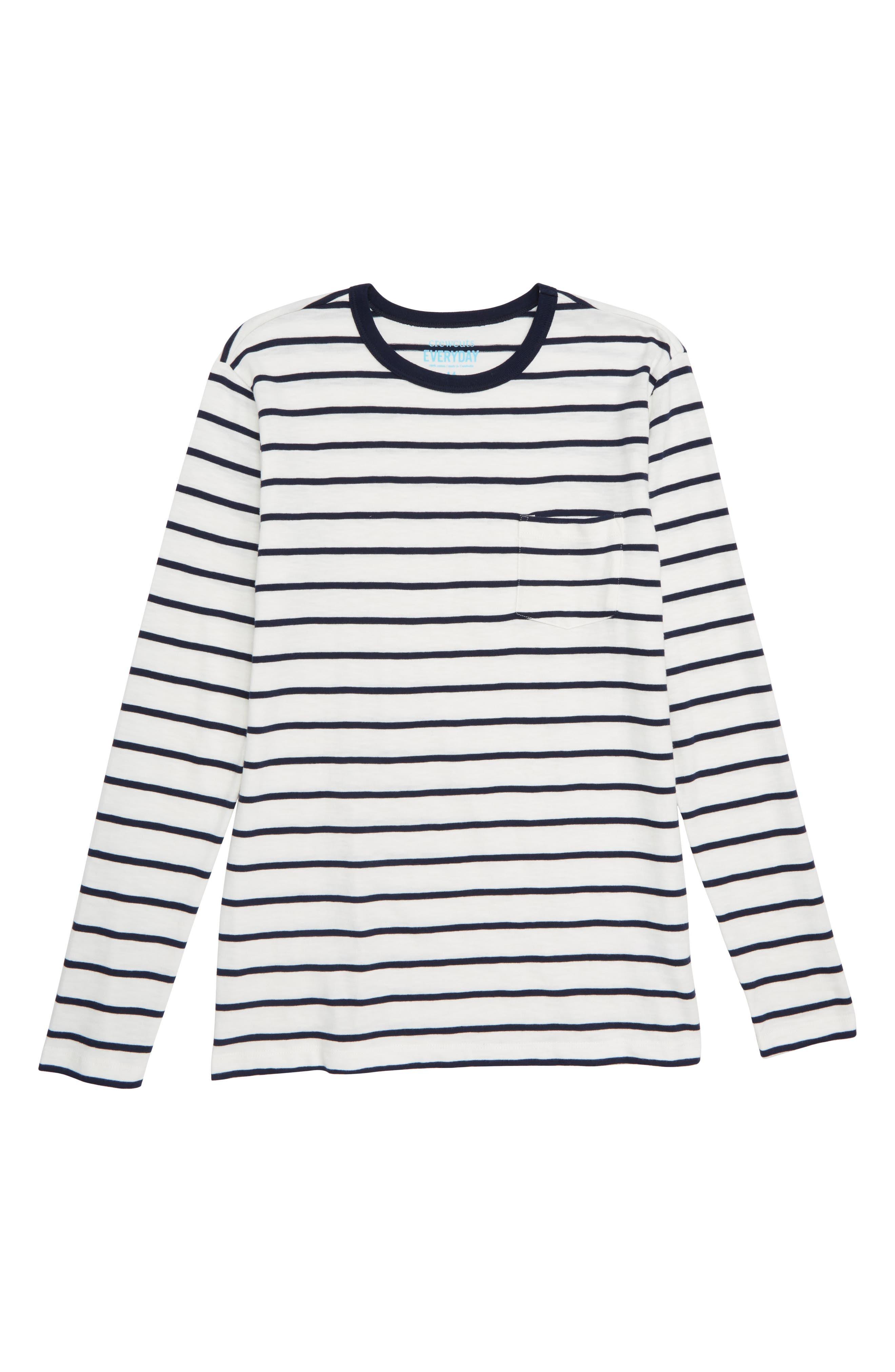 CREWCUTS BY J.CREW,                             Stripe Slub Cotton T-Shirt,                             Main thumbnail 1, color,                             900