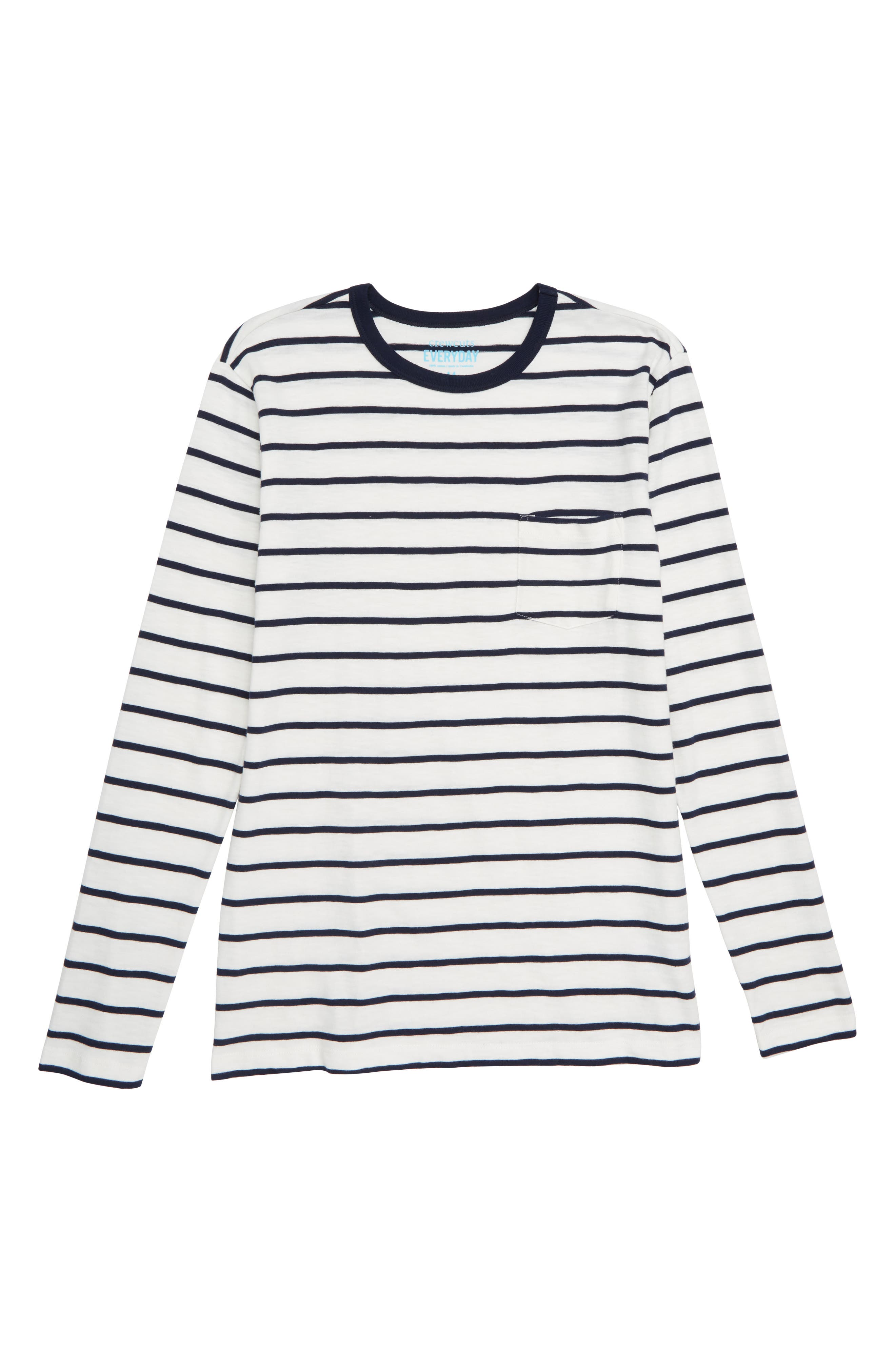 CREWCUTS BY J.CREW Stripe Slub Cotton T-Shirt, Main, color, 900