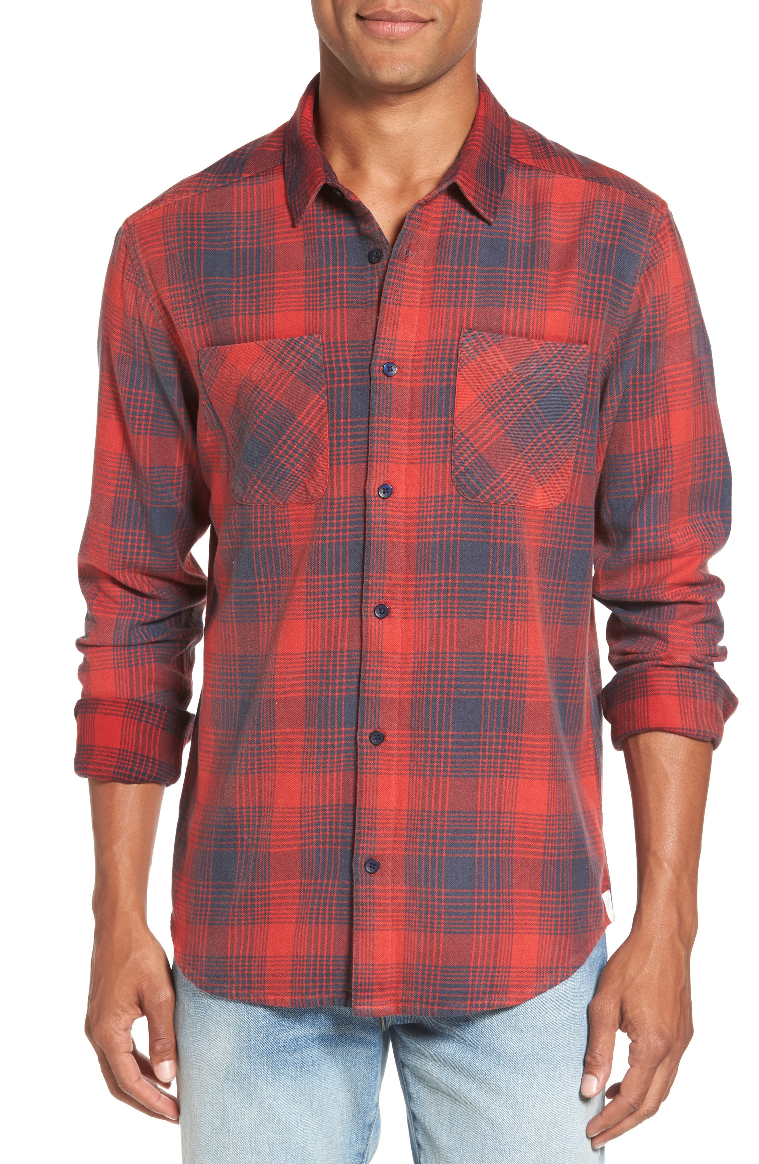 Plaid Woven Shirt,                             Main thumbnail 1, color,                             620
