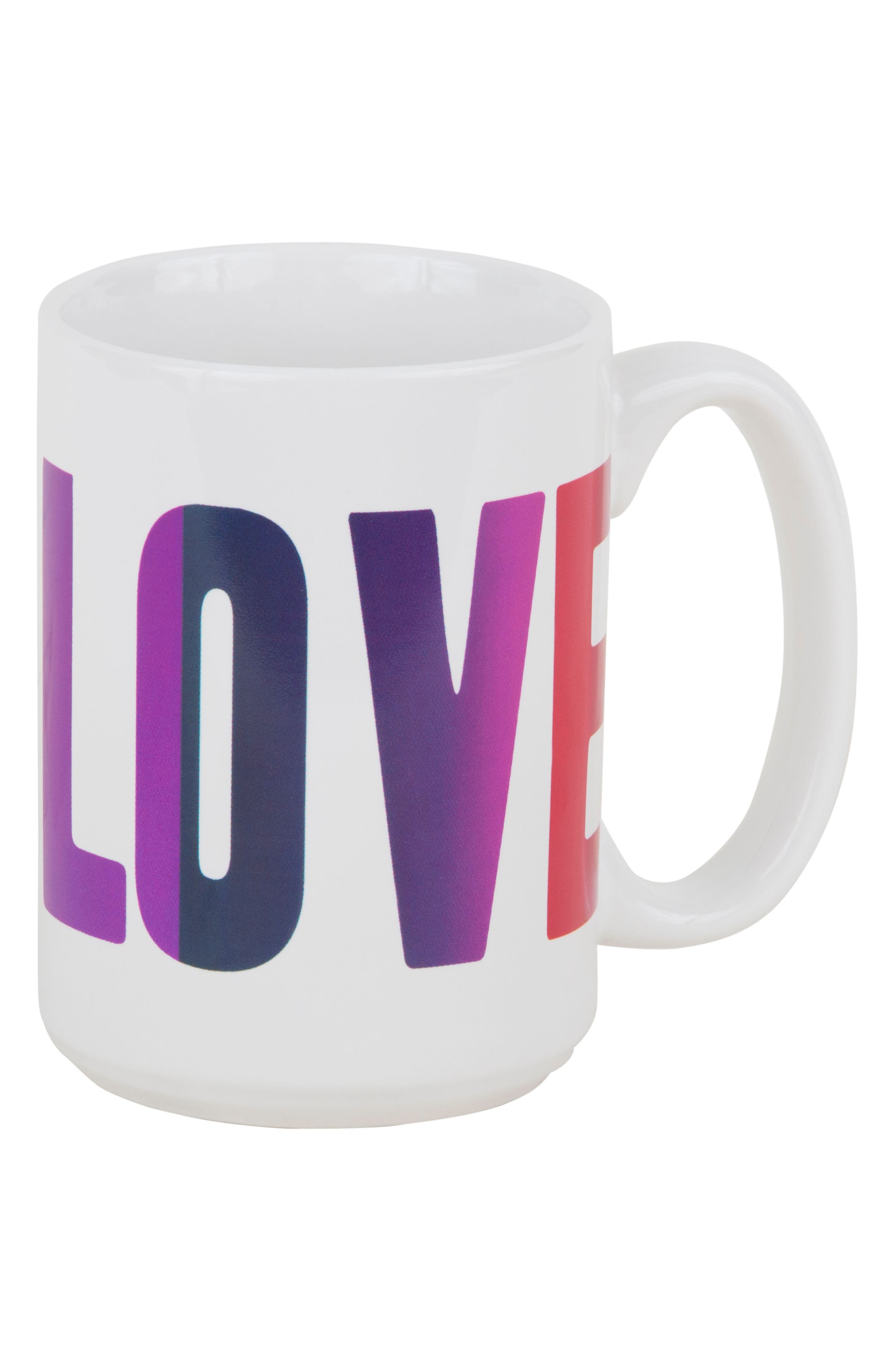 Peace Love Happiness Set of 3 Mugs,                             Alternate thumbnail 6, color,                             100