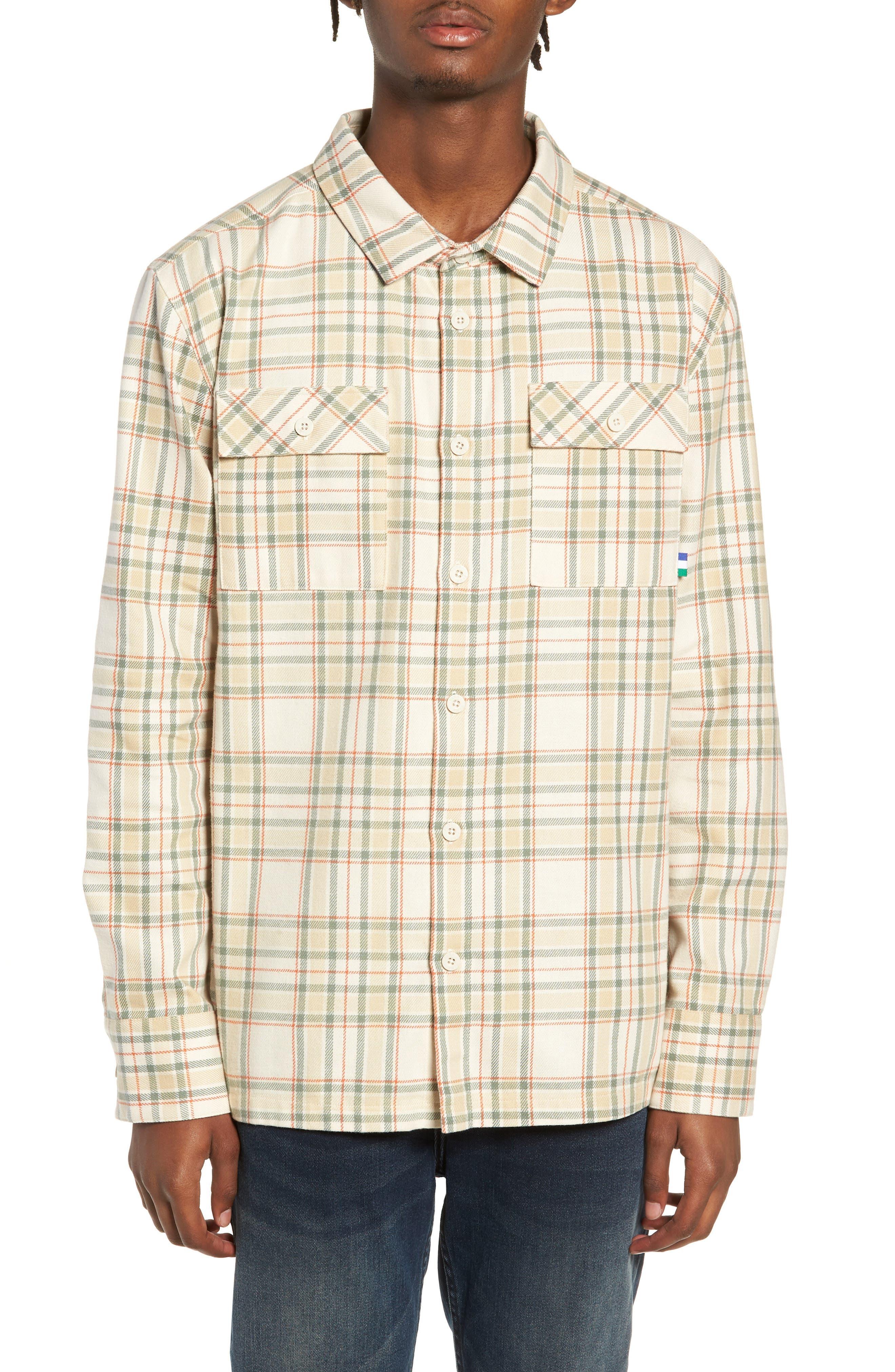 PUMA x Big Sean Check Shirt, Main, color, 100