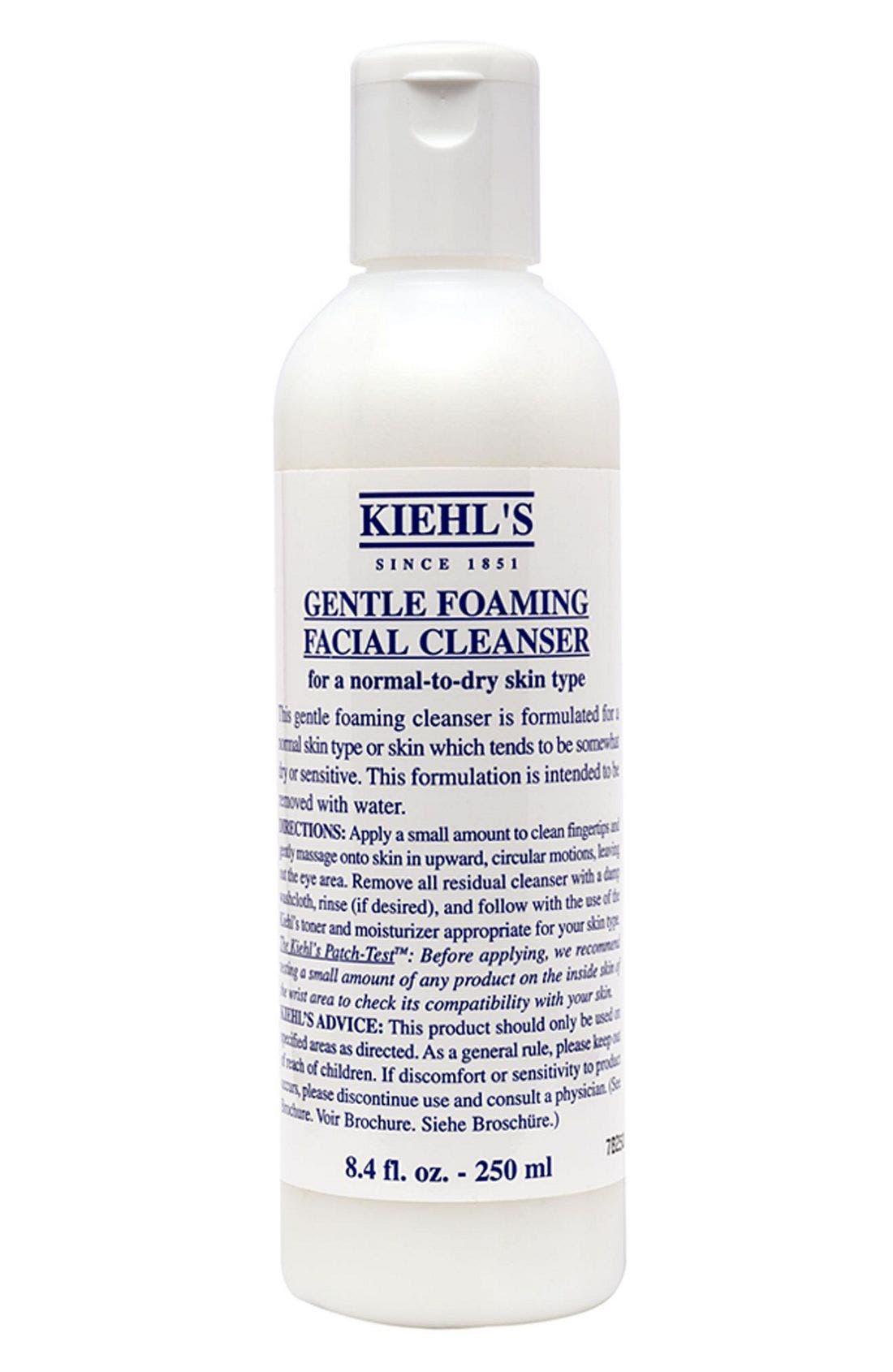 Gentle Foaming Facial Cleanser,                             Main thumbnail 1, color,                             000