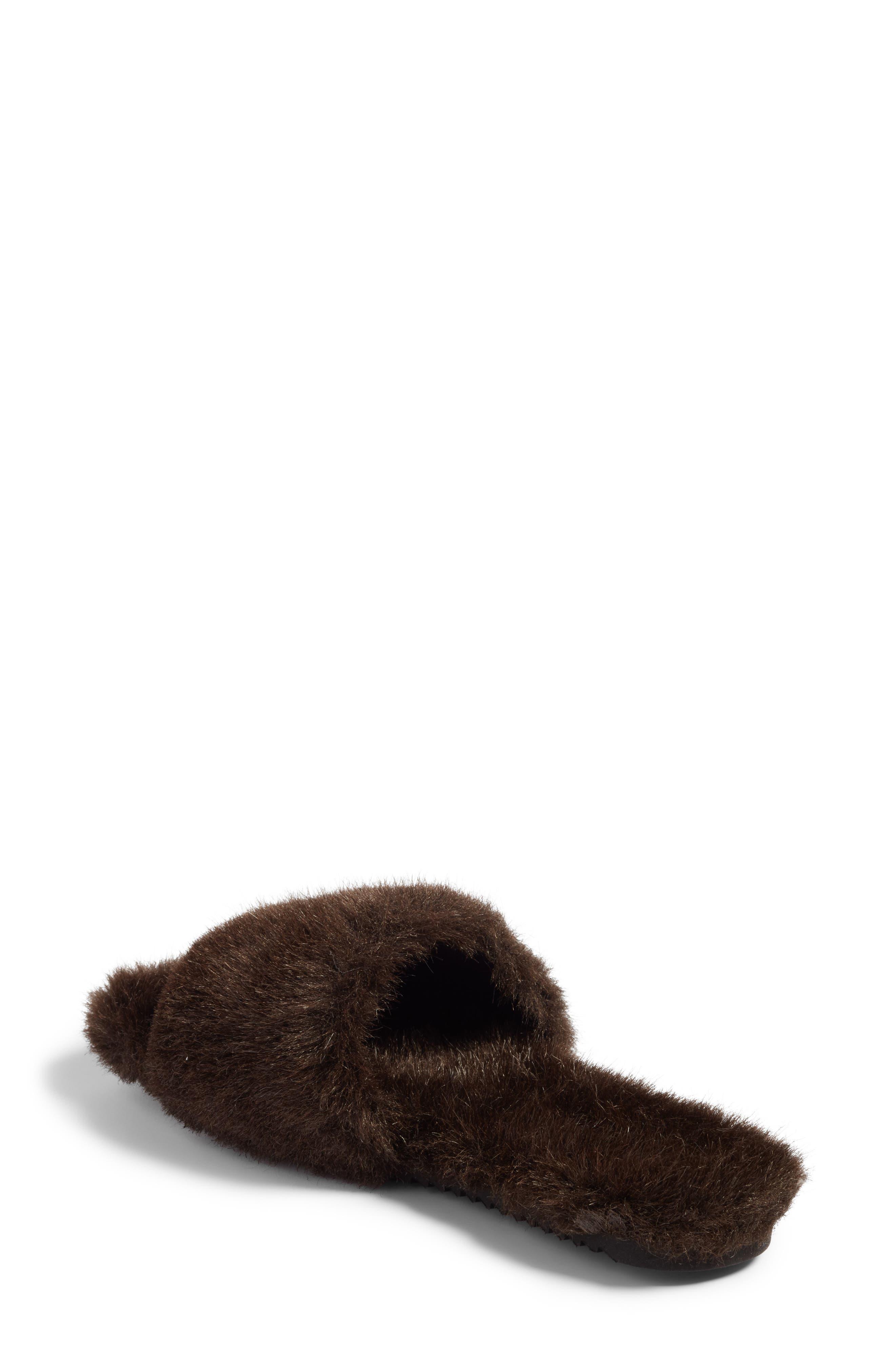 Faux Fur Slide Sandal,                             Alternate thumbnail 2, color,                             200