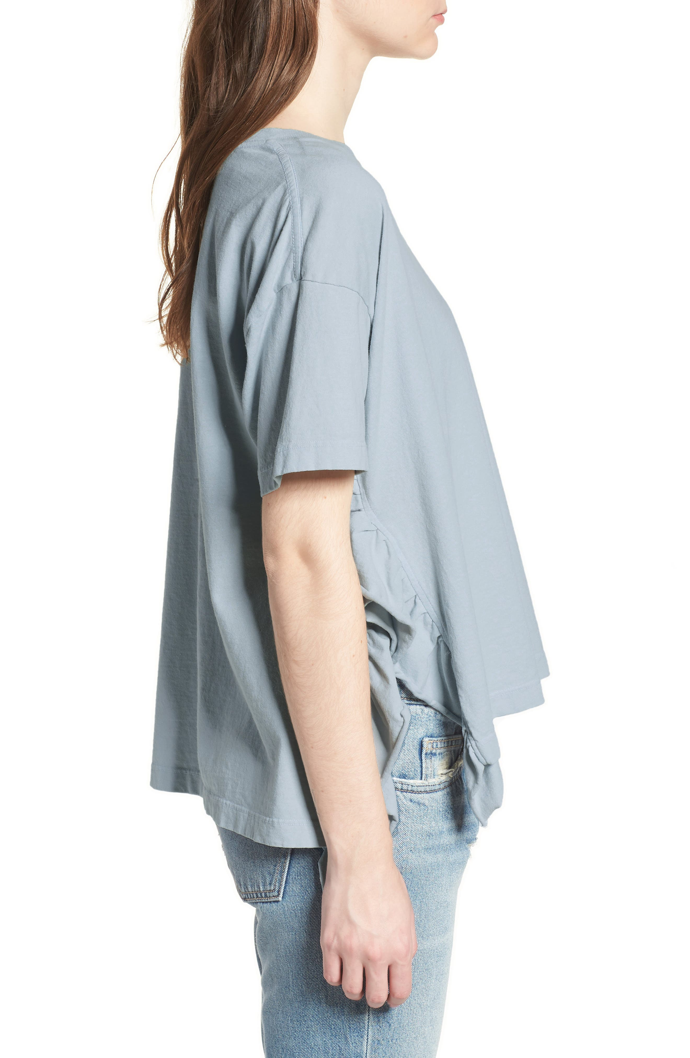 The Side Slit Ruffle Tee,                             Alternate thumbnail 3, color,                             459