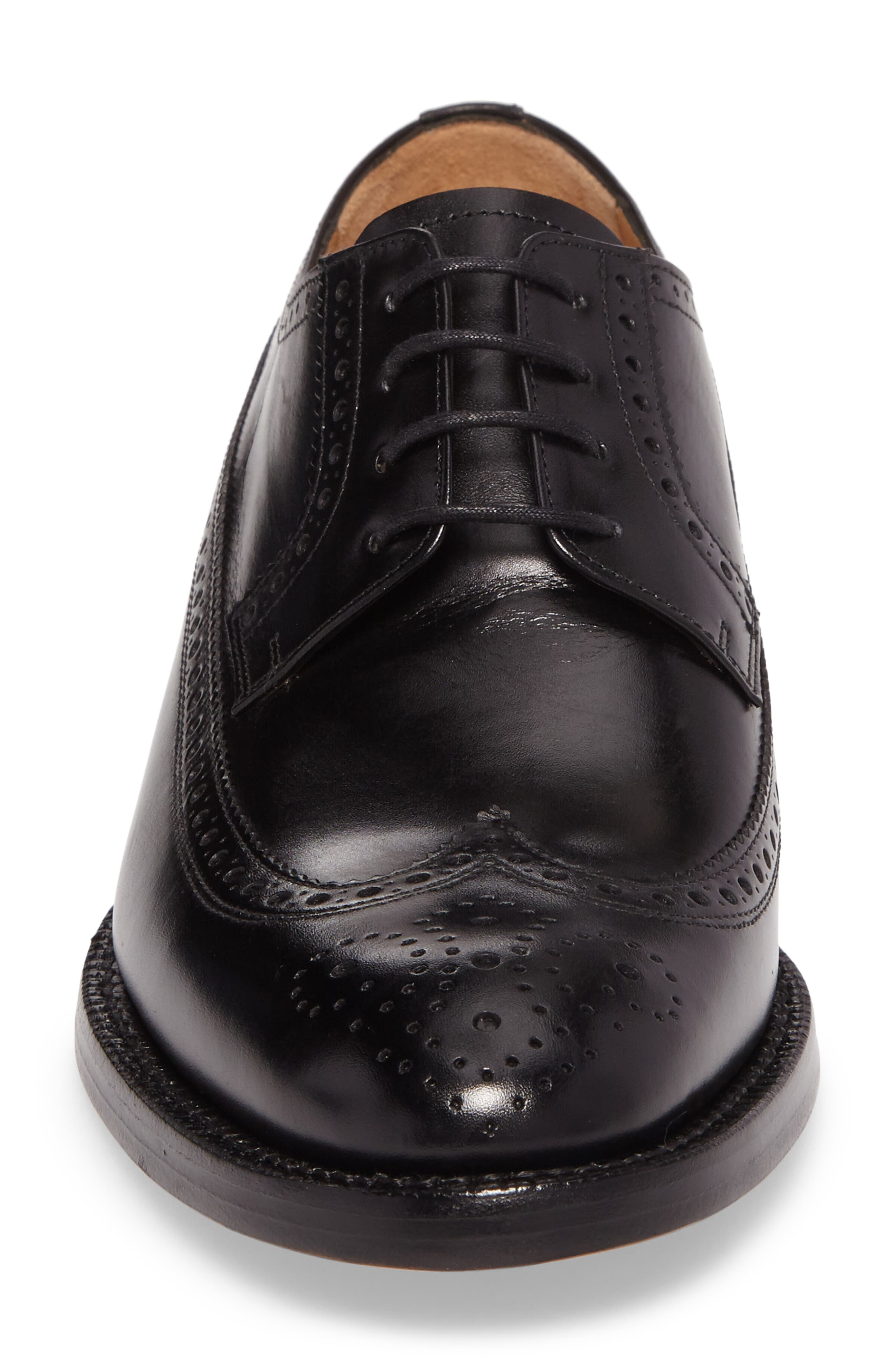 Hubert Longwing Derby,                             Alternate thumbnail 4, color,                             BLACK LEATHER