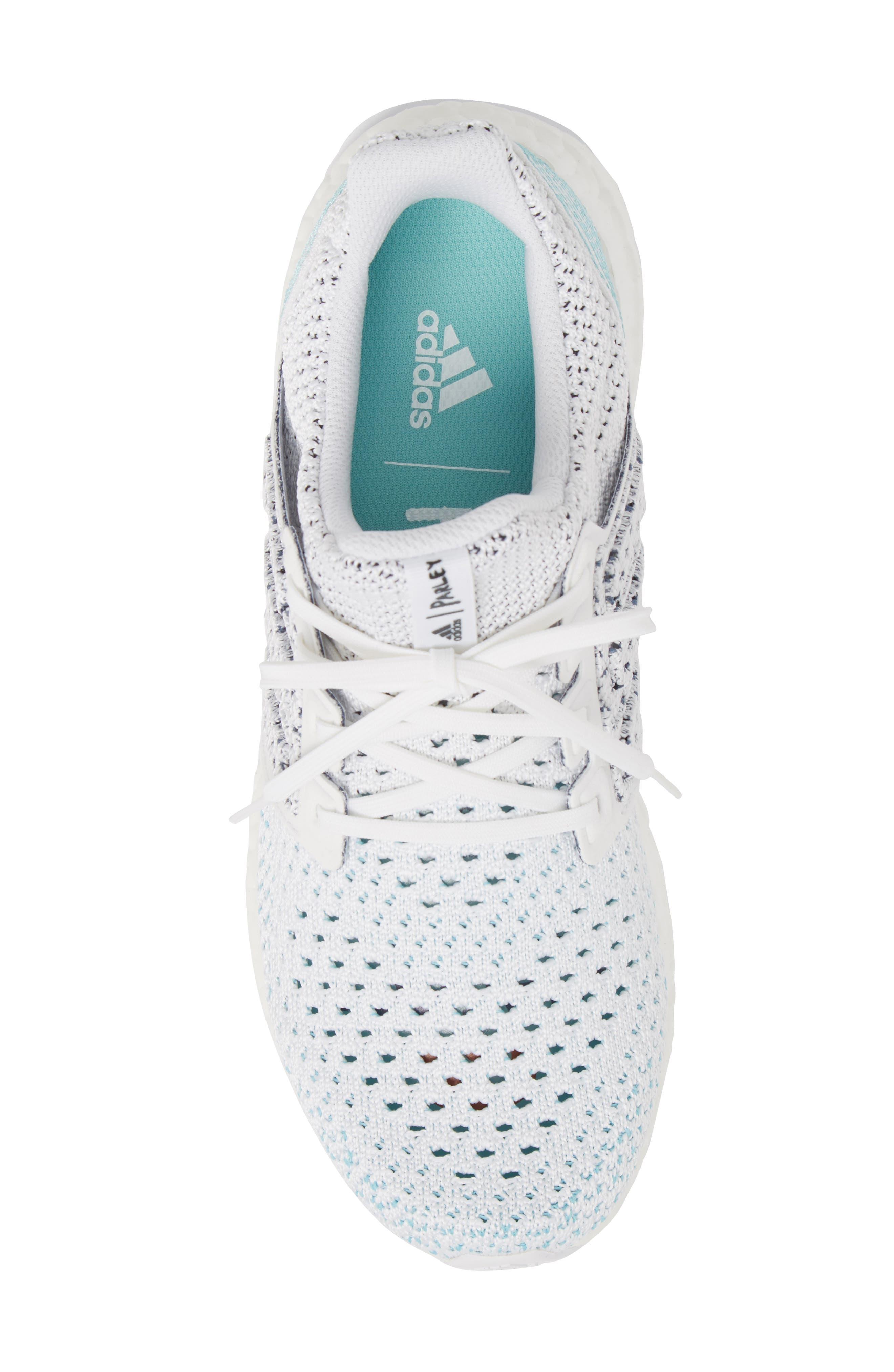 Parley UltraBoost Sneaker,                             Alternate thumbnail 5, color,                             WHITE/ BLUE SPIRIT