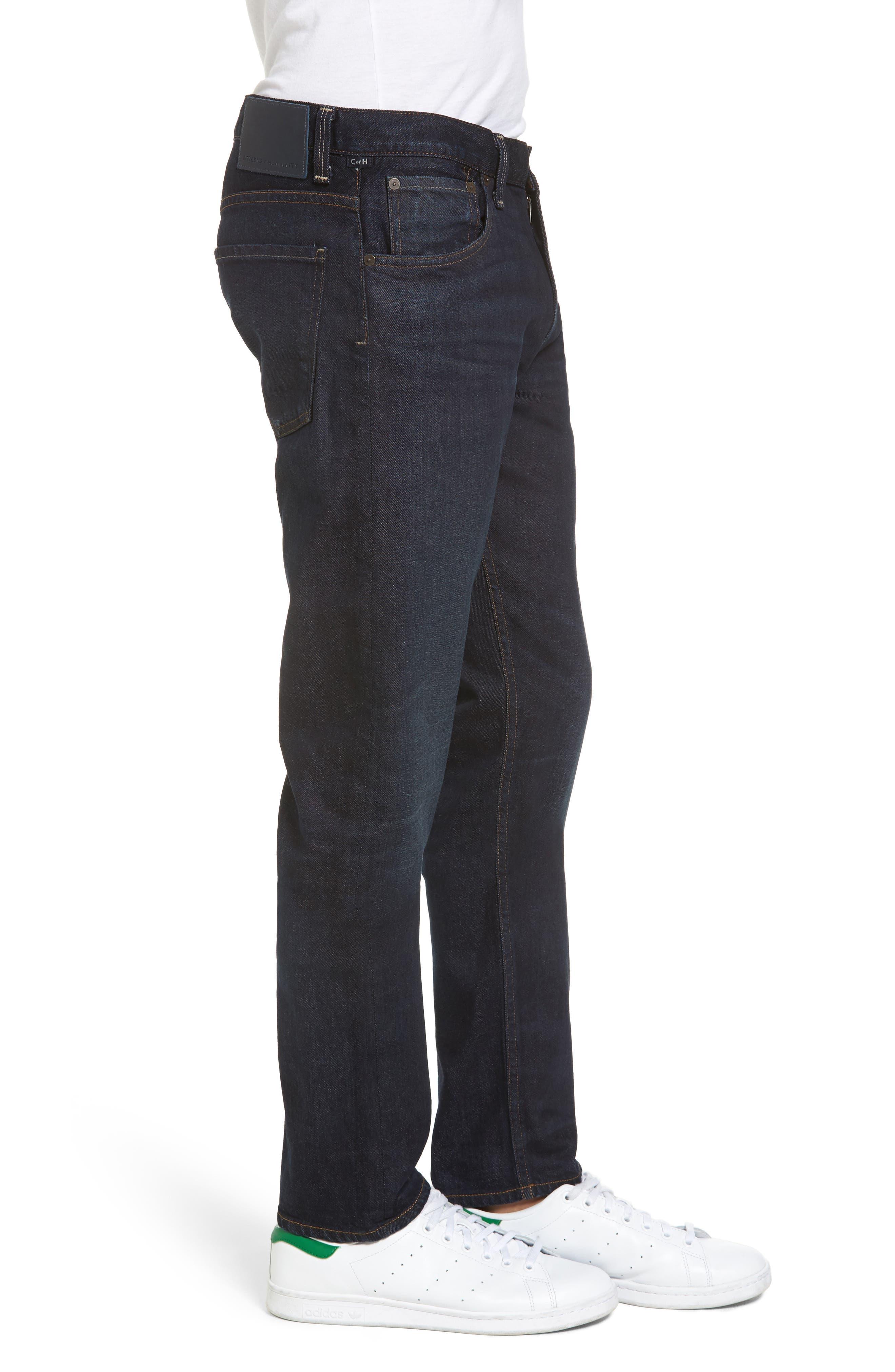 Slim Straight Leg Jeans,                             Alternate thumbnail 3, color,                             409