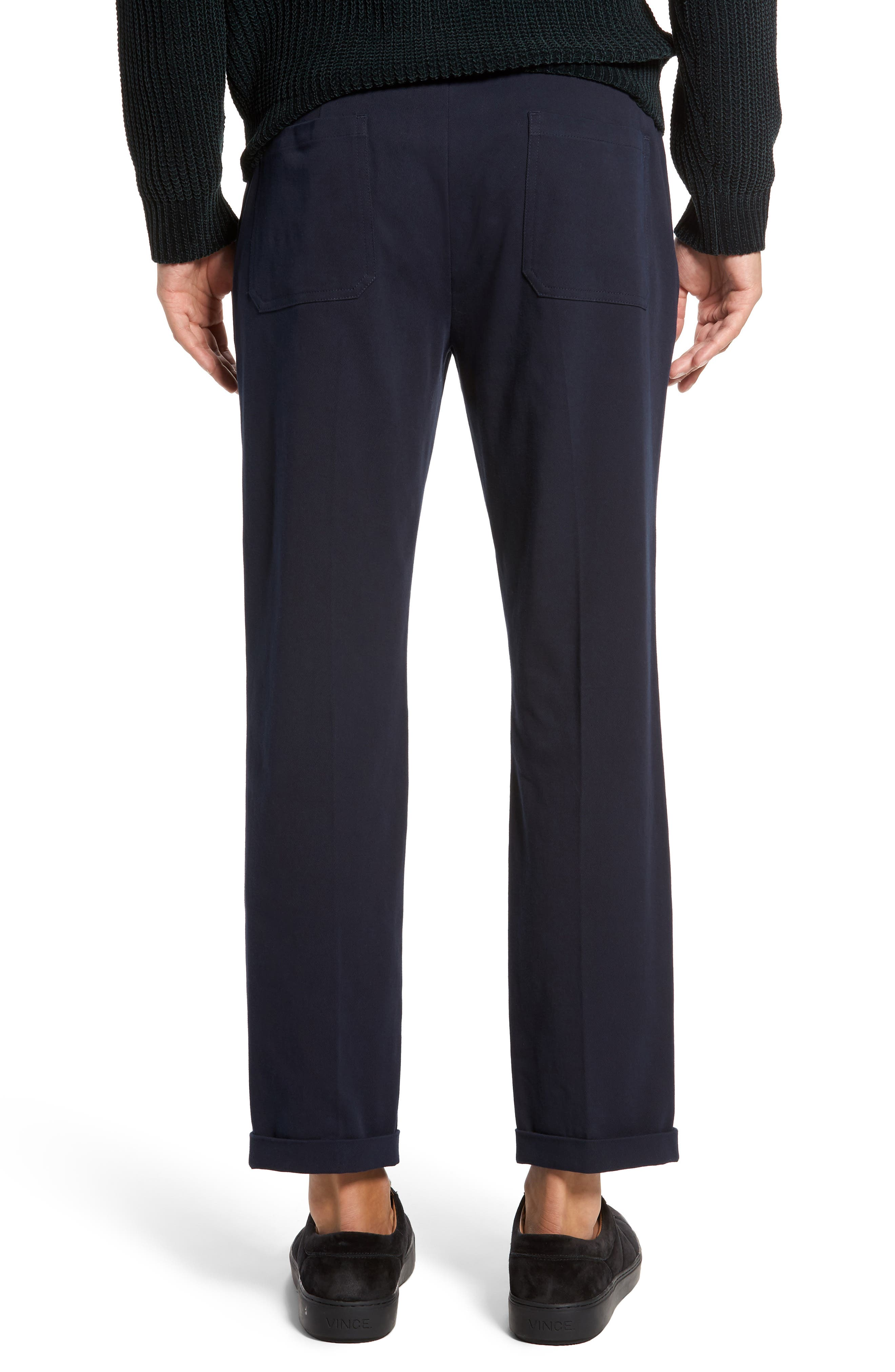 Cropped Slim Fit Trousers,                             Alternate thumbnail 2, color,                             403