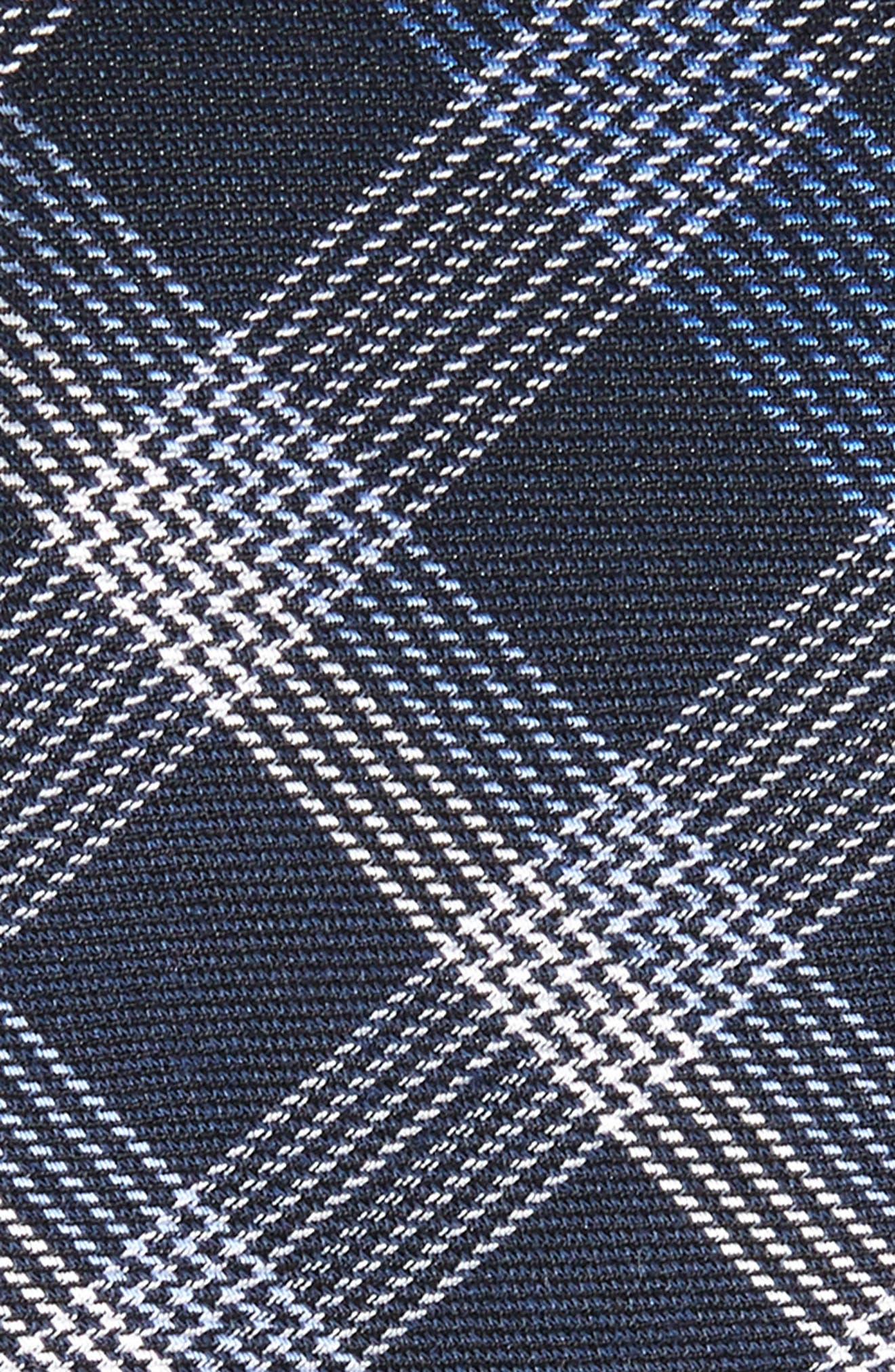 Indigo Plaid Silk Tie,                             Alternate thumbnail 2, color,                             400