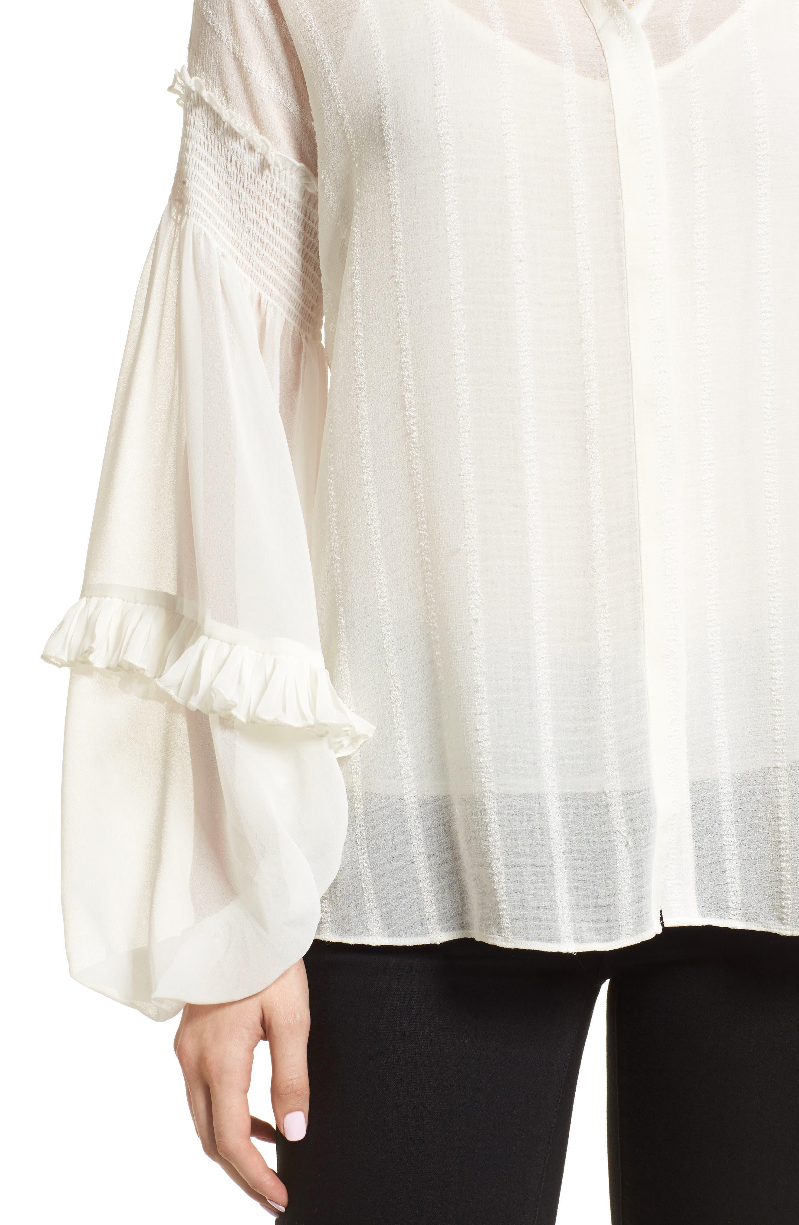 Bloused Sleeve Shirt,                             Alternate thumbnail 4, color,