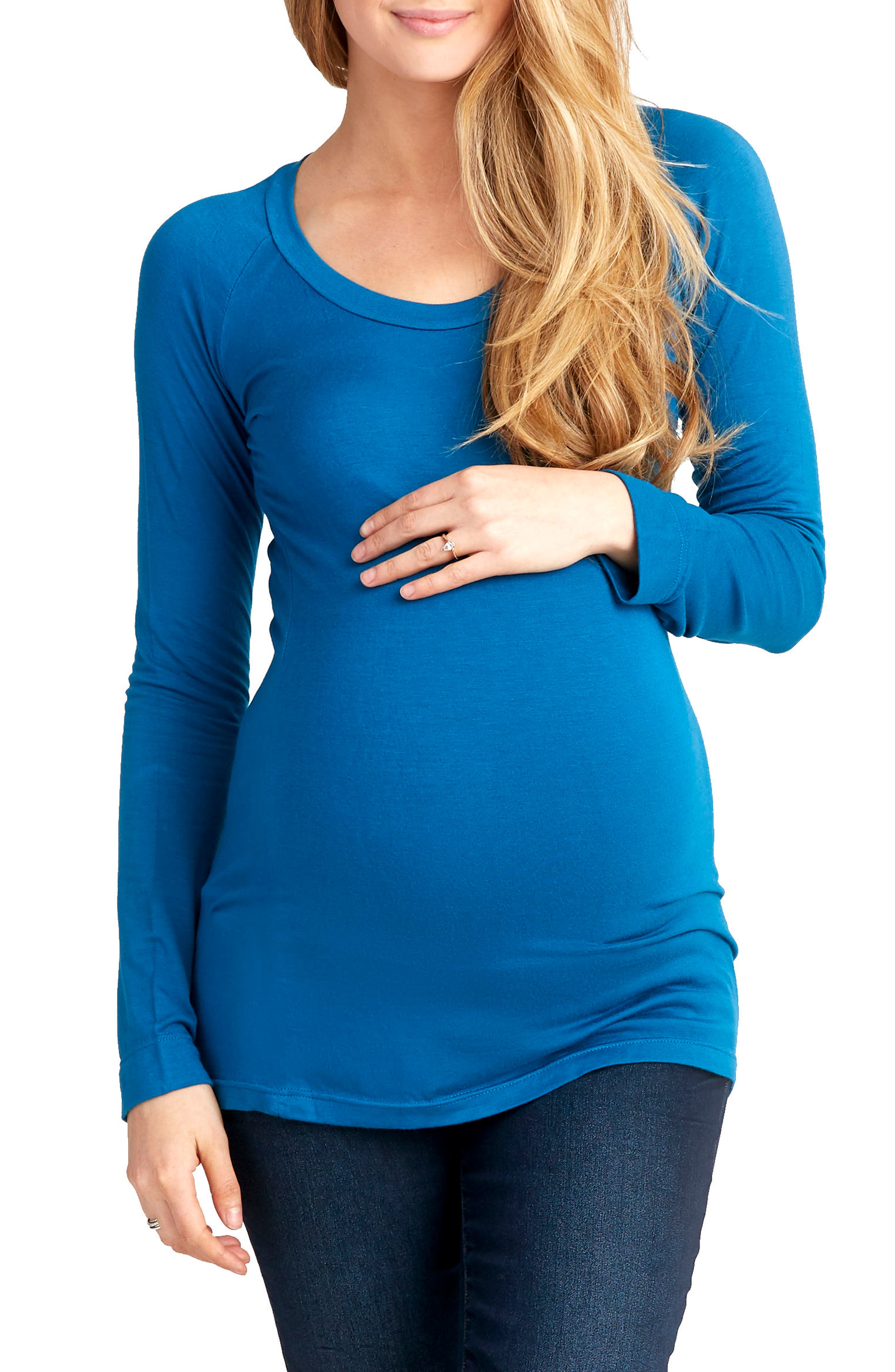 Phoebe Maternity Top, Main, color, SEAPORT
